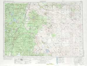 Crescent topographical map