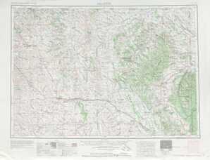 Gillette topographical map