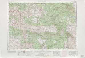 Canyon City topographical map