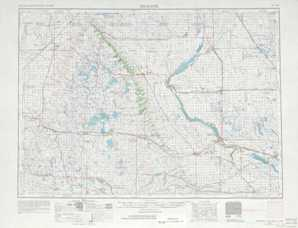 Milbank topographical map