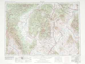 Dillon topographical map