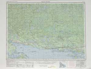 Blind River topographical map