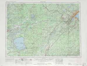 Duluth topographical map