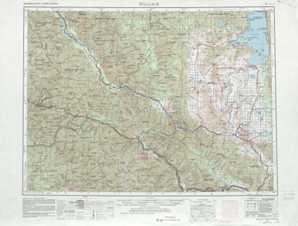 Wallace topographical map