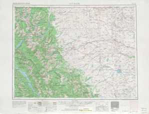 Cut Bank topographical map