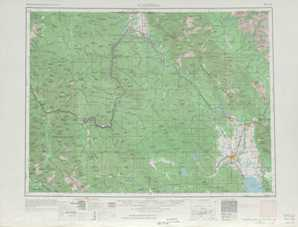 Kalispell topographical map