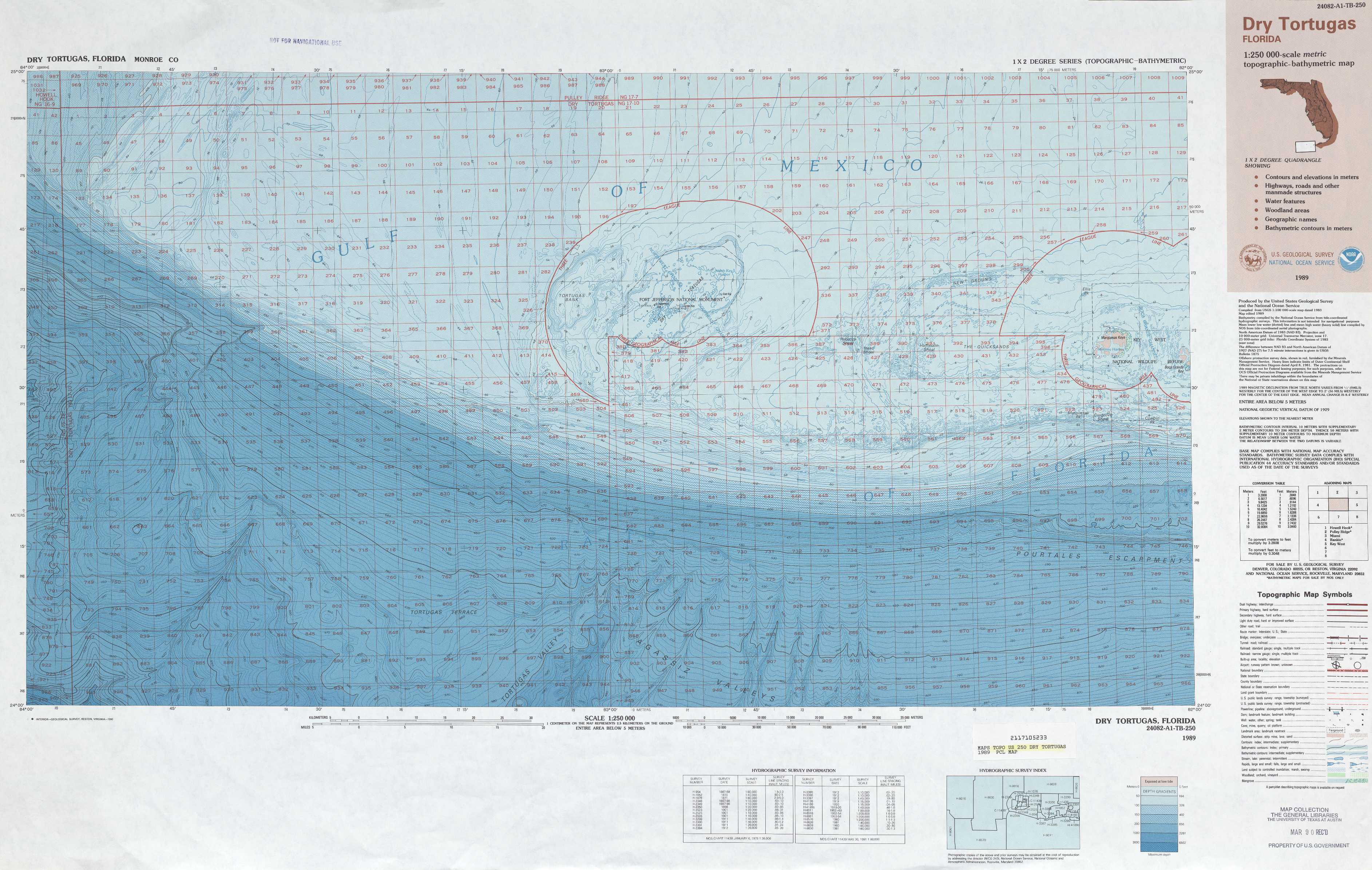 Dry Tortugas topographic maps FL USGS Topo Quad 24082a1 at 1