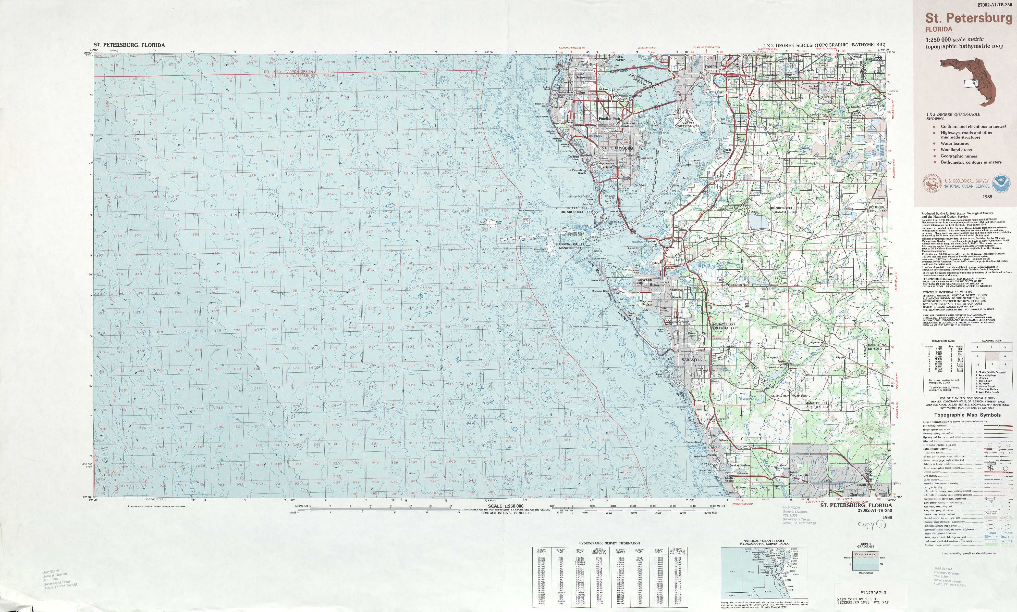 Topo Map Florida.St Petersburg Topographic Maps Fl Usgs Topo Quad 27082a1 At 1