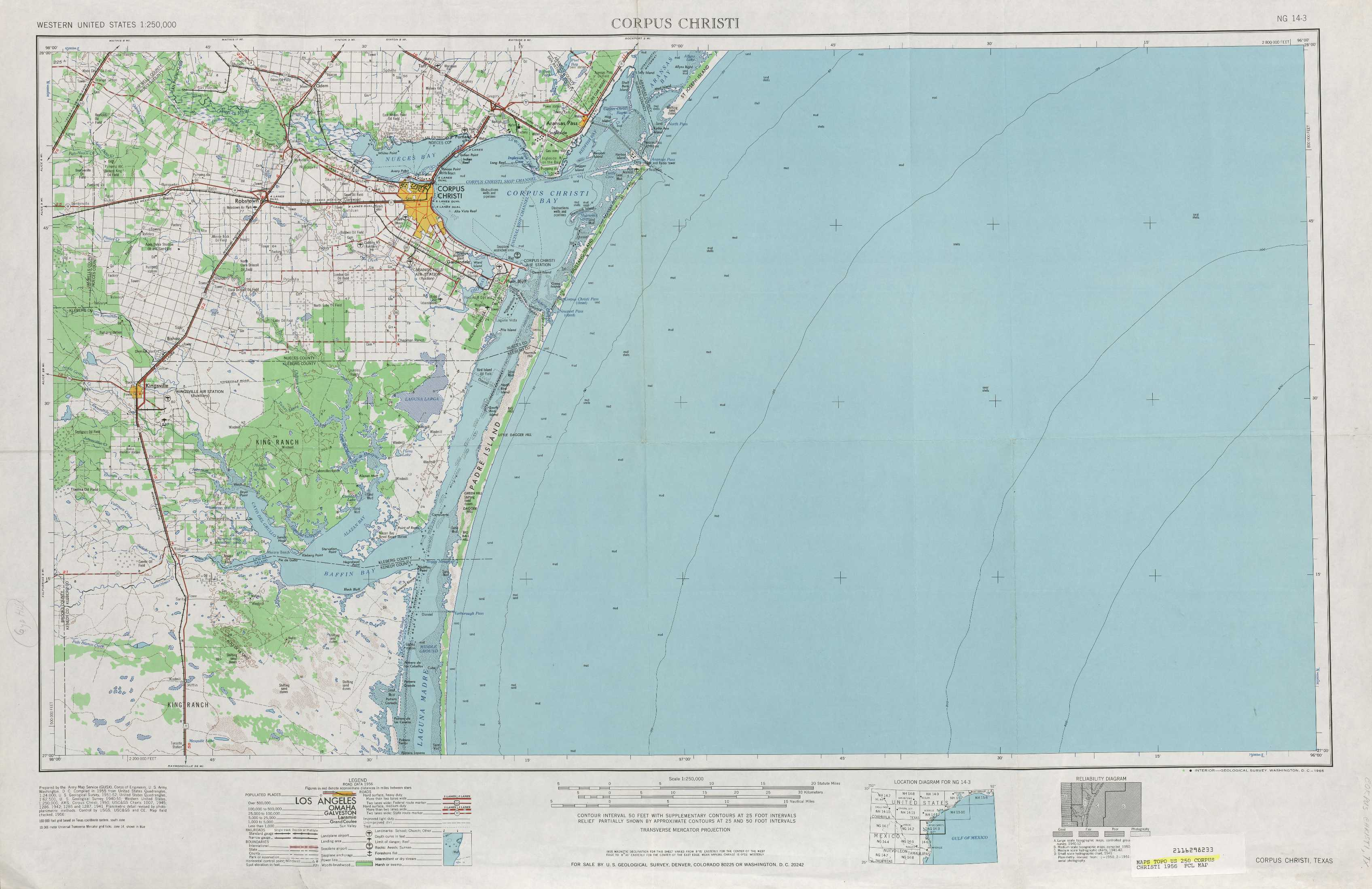 Corpus Christi Topographic Maps TX USGS Topo Quad A At - Topographical map of texas