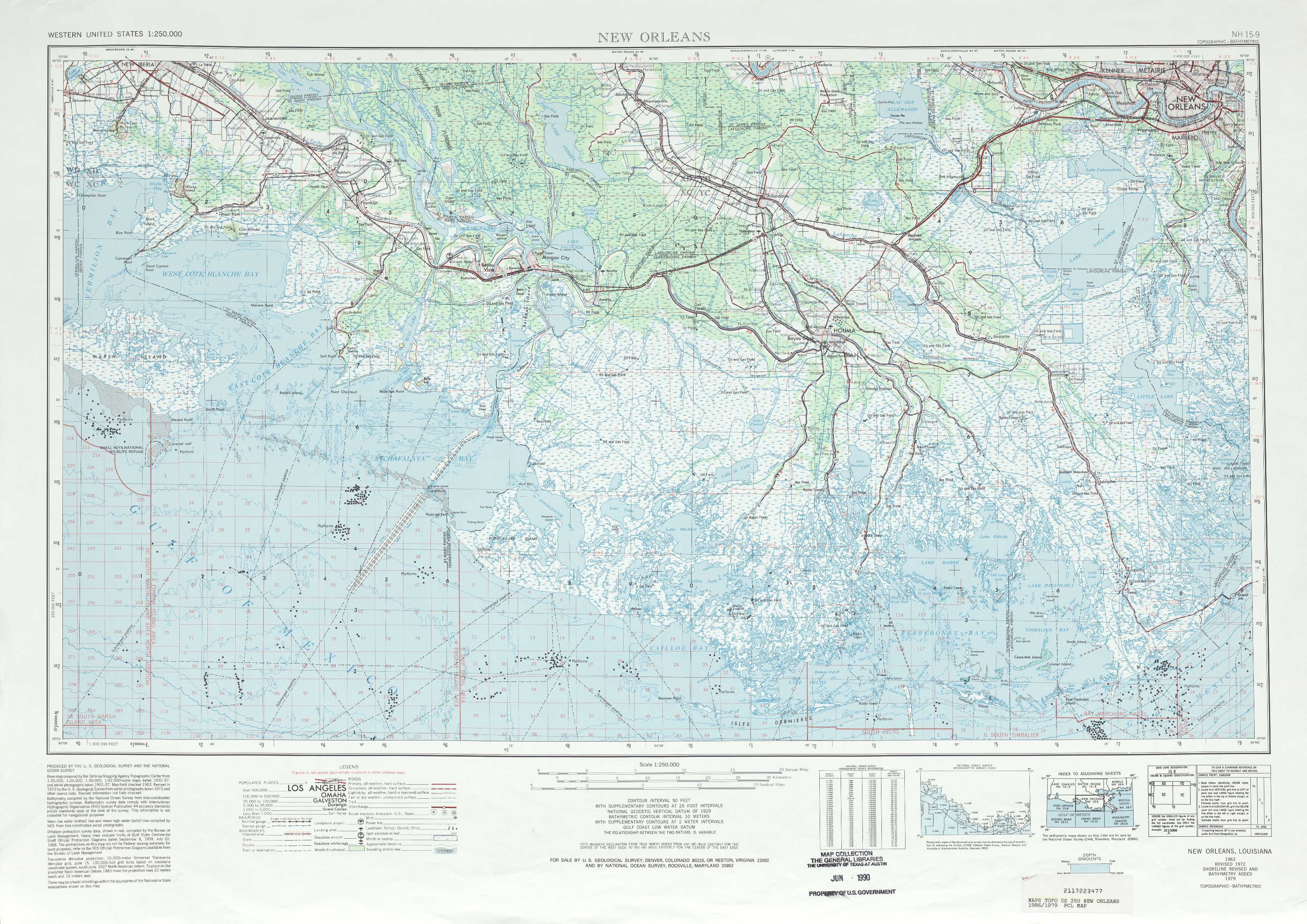 New Orleans topographic maps, LA   USGS Topo Quad 29090a1 at 1