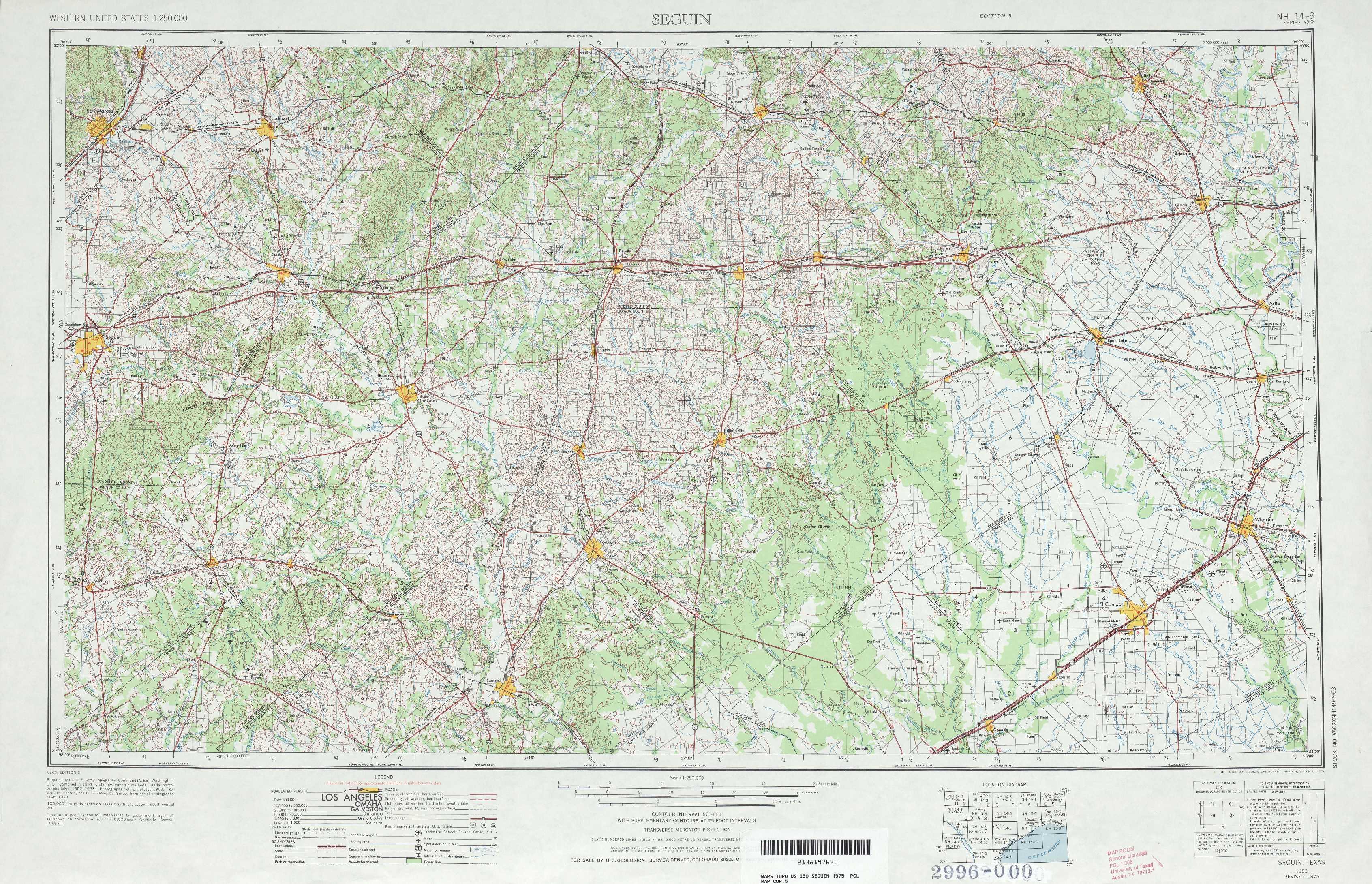 Seguin Texas Map >> Seguin Topographic Maps Tx Usgs Topo Quad 29096a1 At 1 250 000 Scale