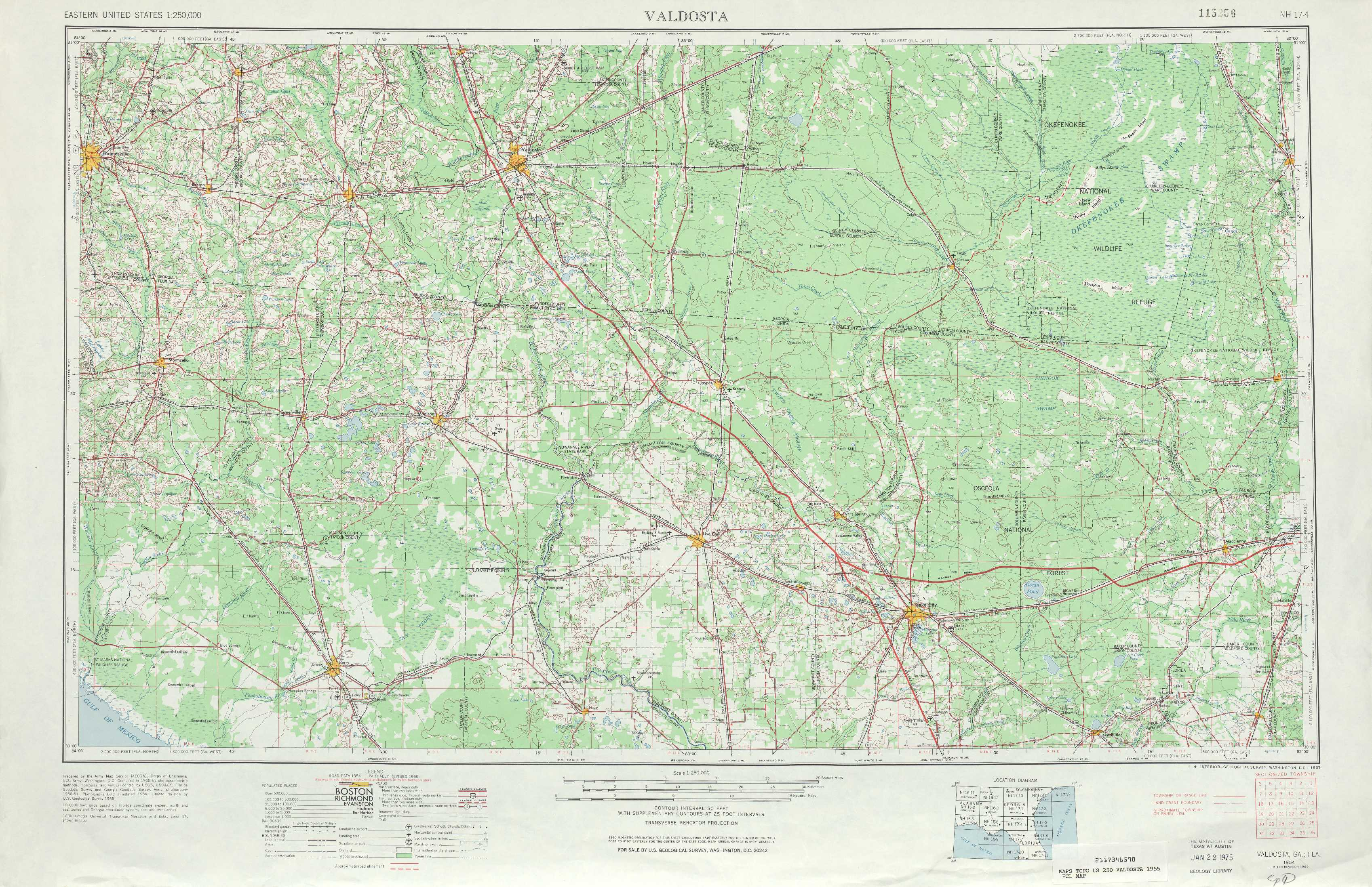 valdosta topographic maps fl ga usgs topo quad a1 at 1