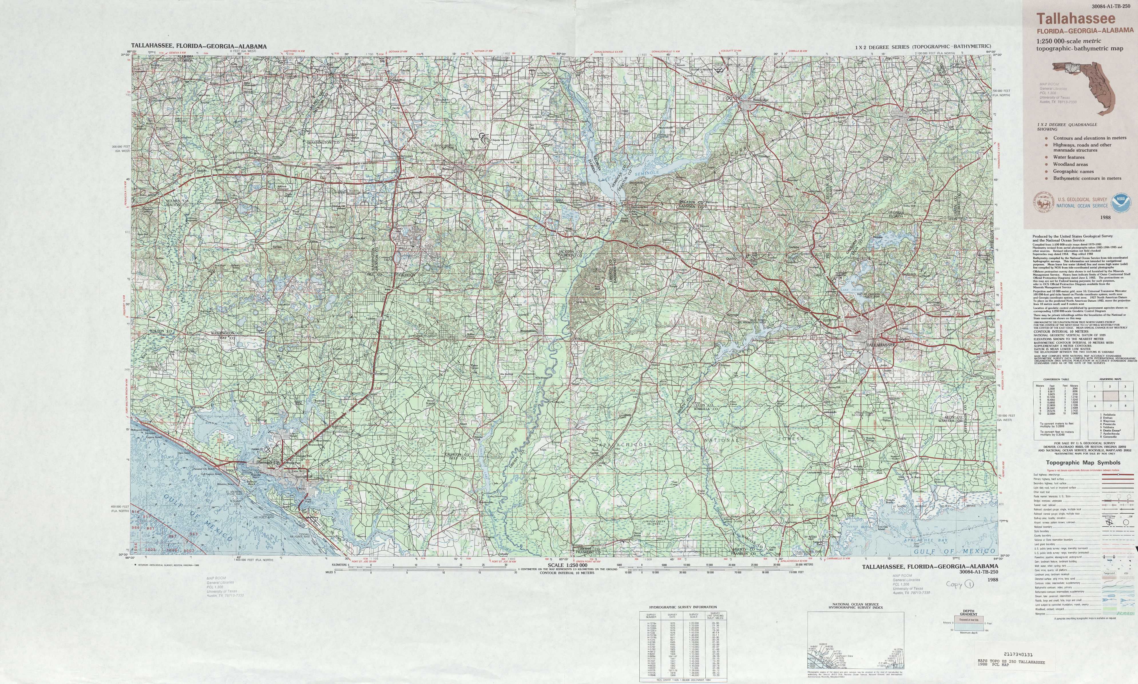 Tallahassee topographic maps FL GA USGS Topo Quad 30084a1 at 1