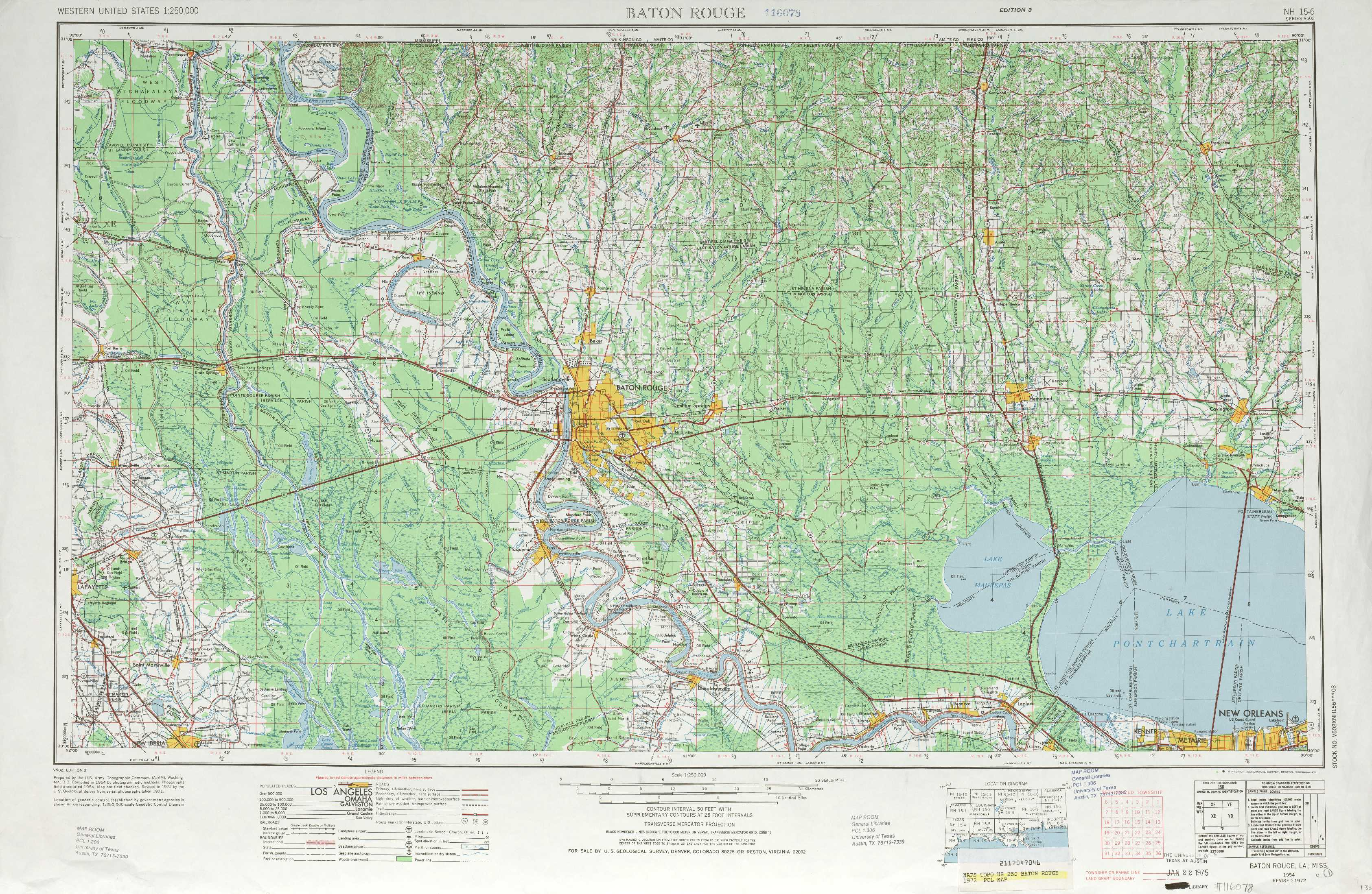 Baton Rouge Topographic Maps LA USGS Topo Quad A At - Topographic map of us states