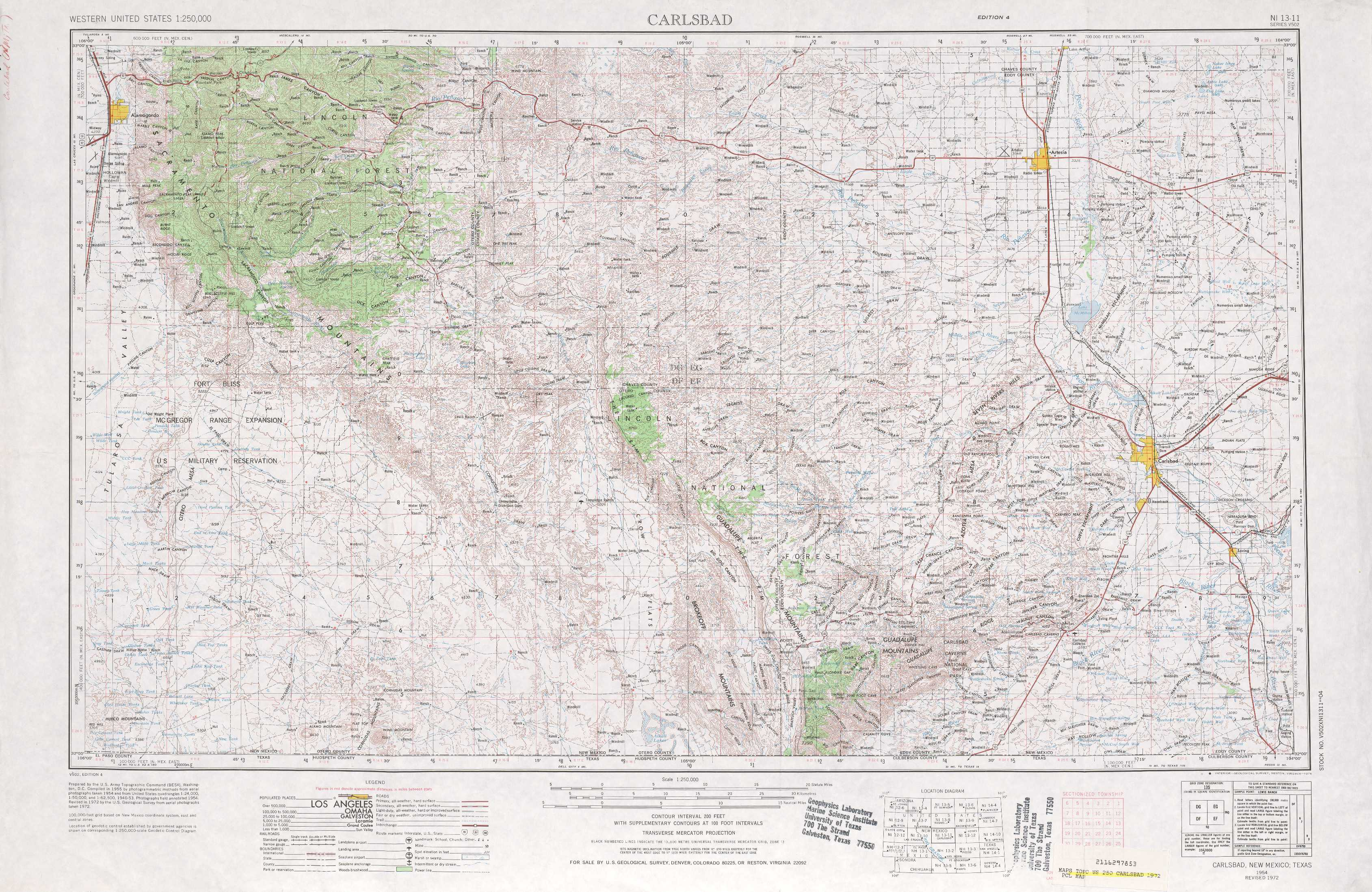Carlsbad Topographic Maps Nm Usgs Topo Quad 32104a1 At