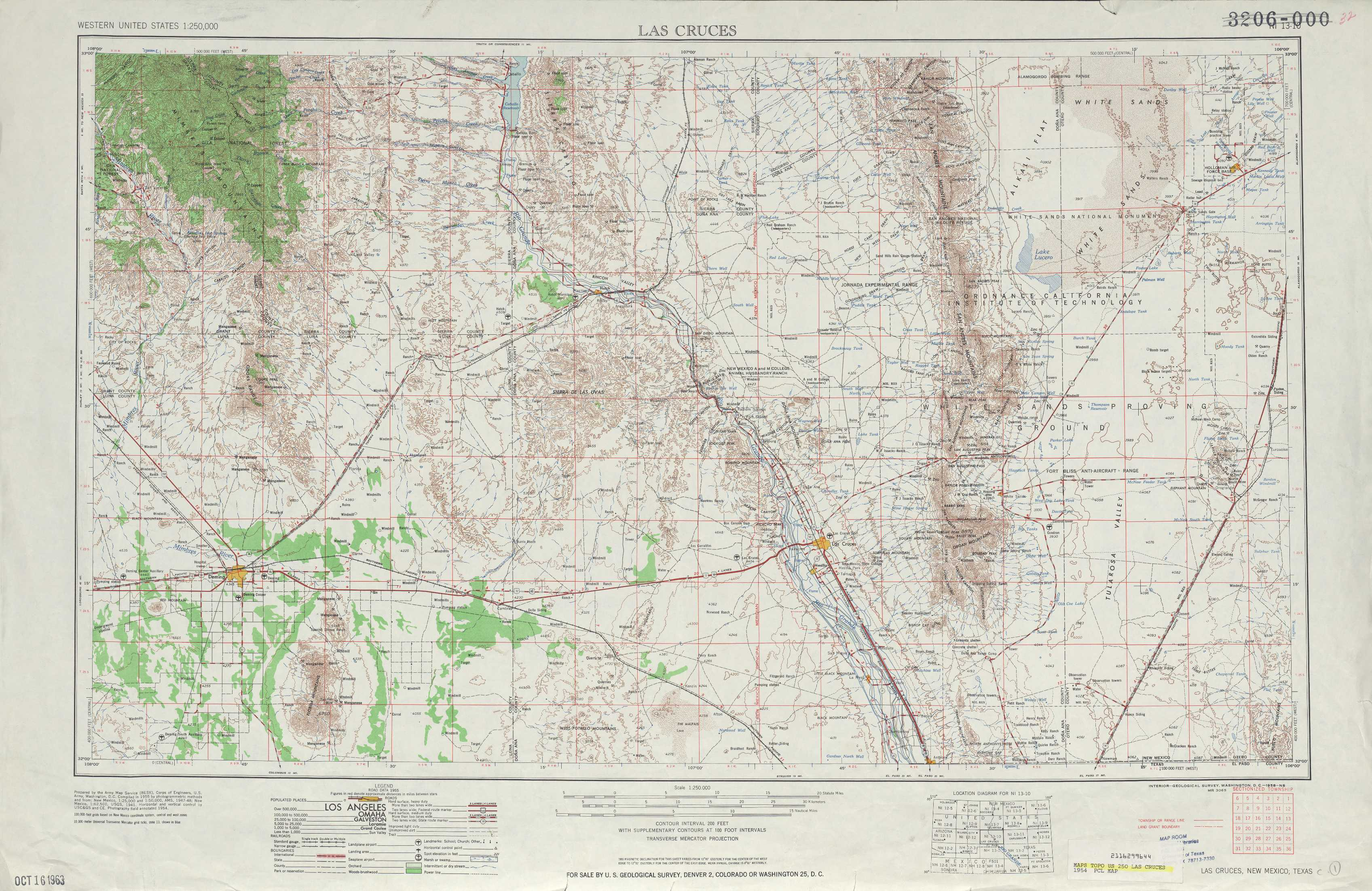 Las Cruces Topographic Maps NM USGS Topo Quad A At - Topographical map of new mexico