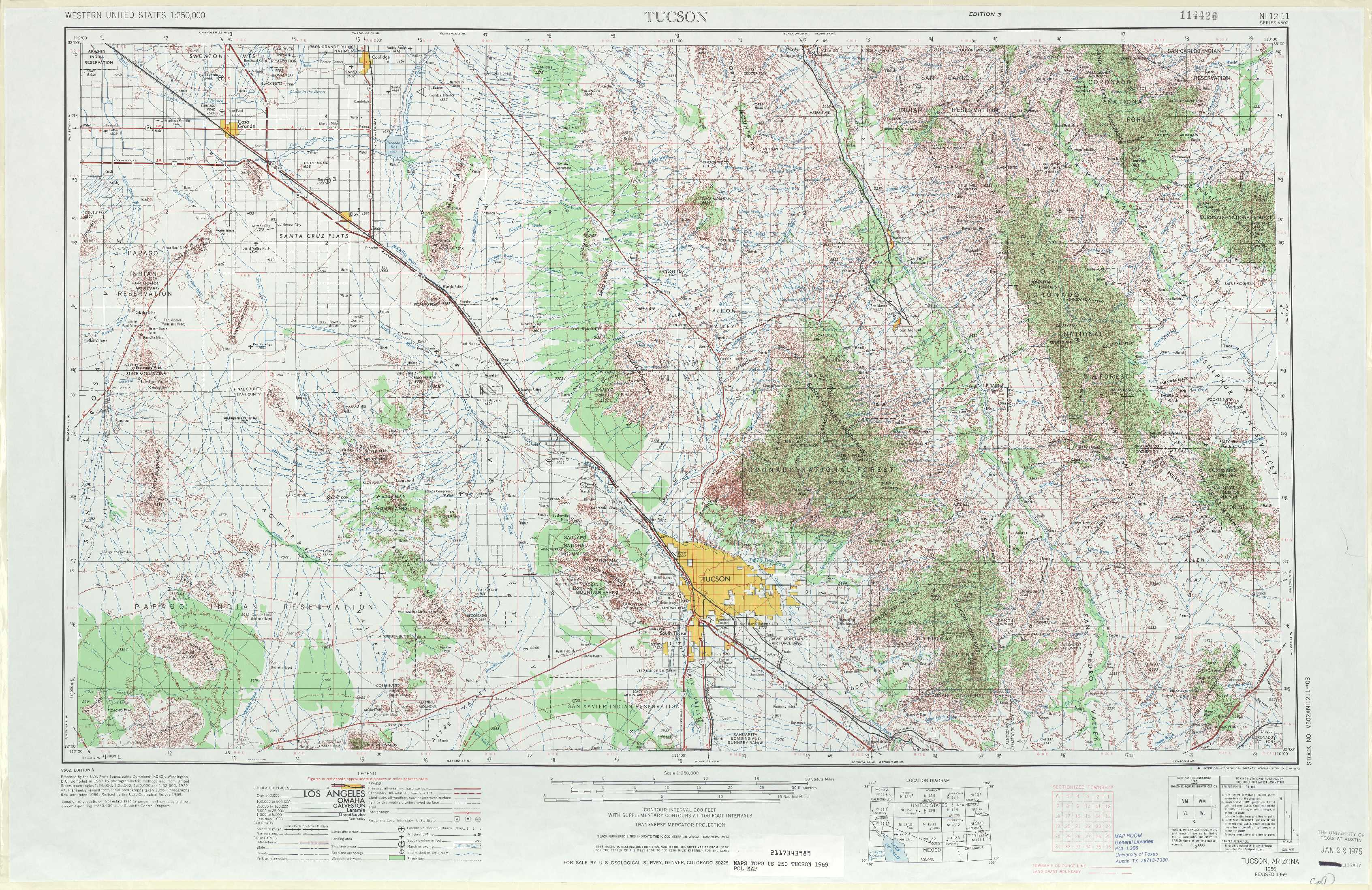 Tucson Topographic Maps AZ  USGS Topo Quad 32110a1 At 1
