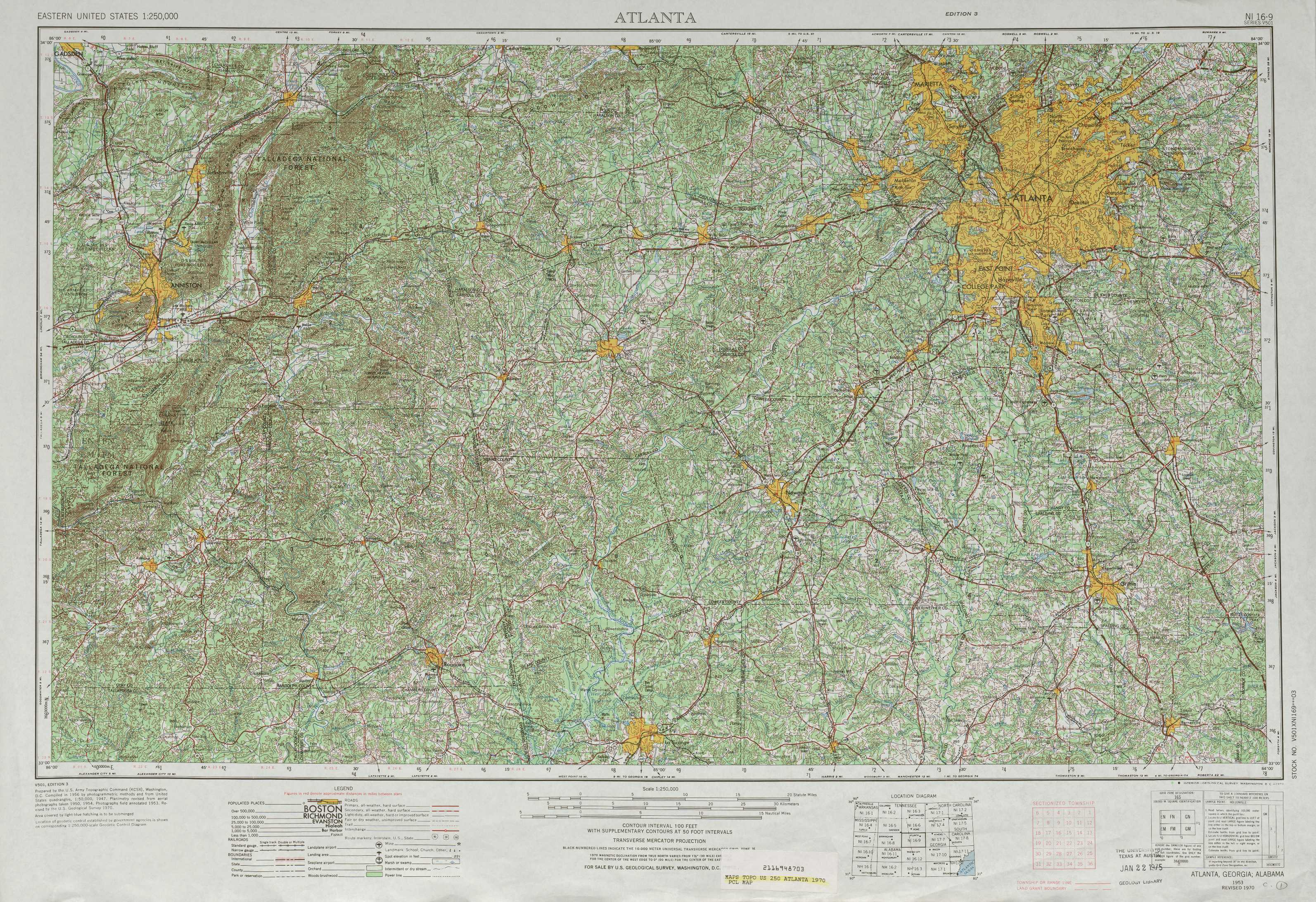 Atlanta topographic maps GA AL USGS Topo Quad 33084a1 at 1