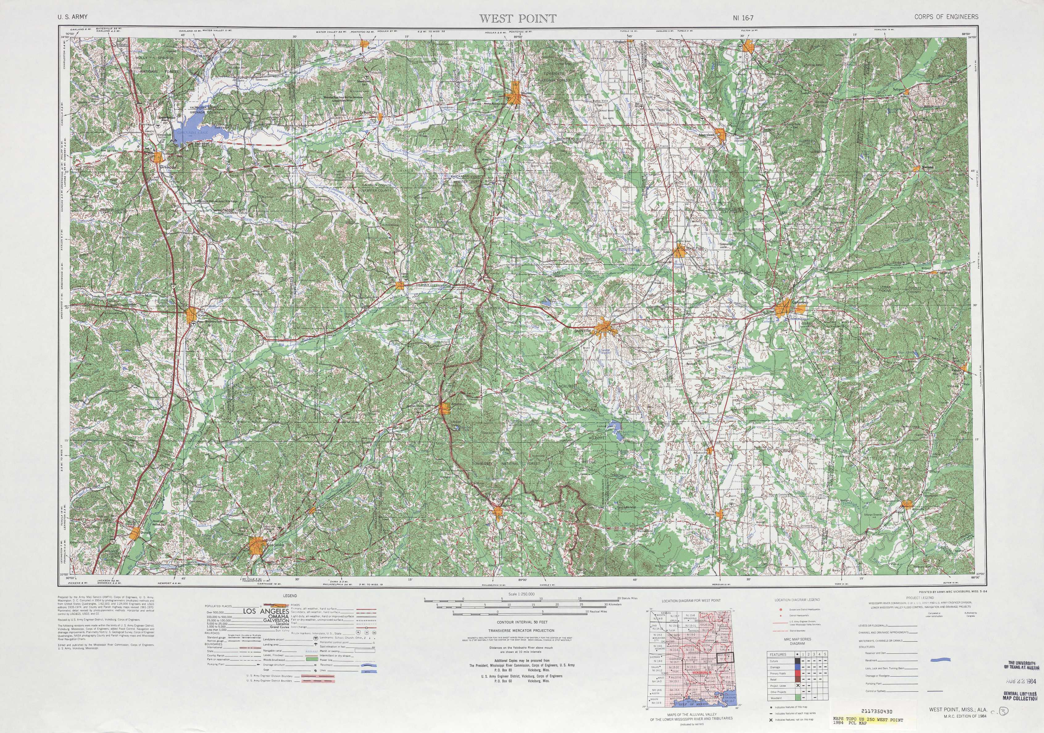 Topographic Map Mississippi.West Point Topographic Maps Ms Al Usgs Topo Quad 33088a1 At 1