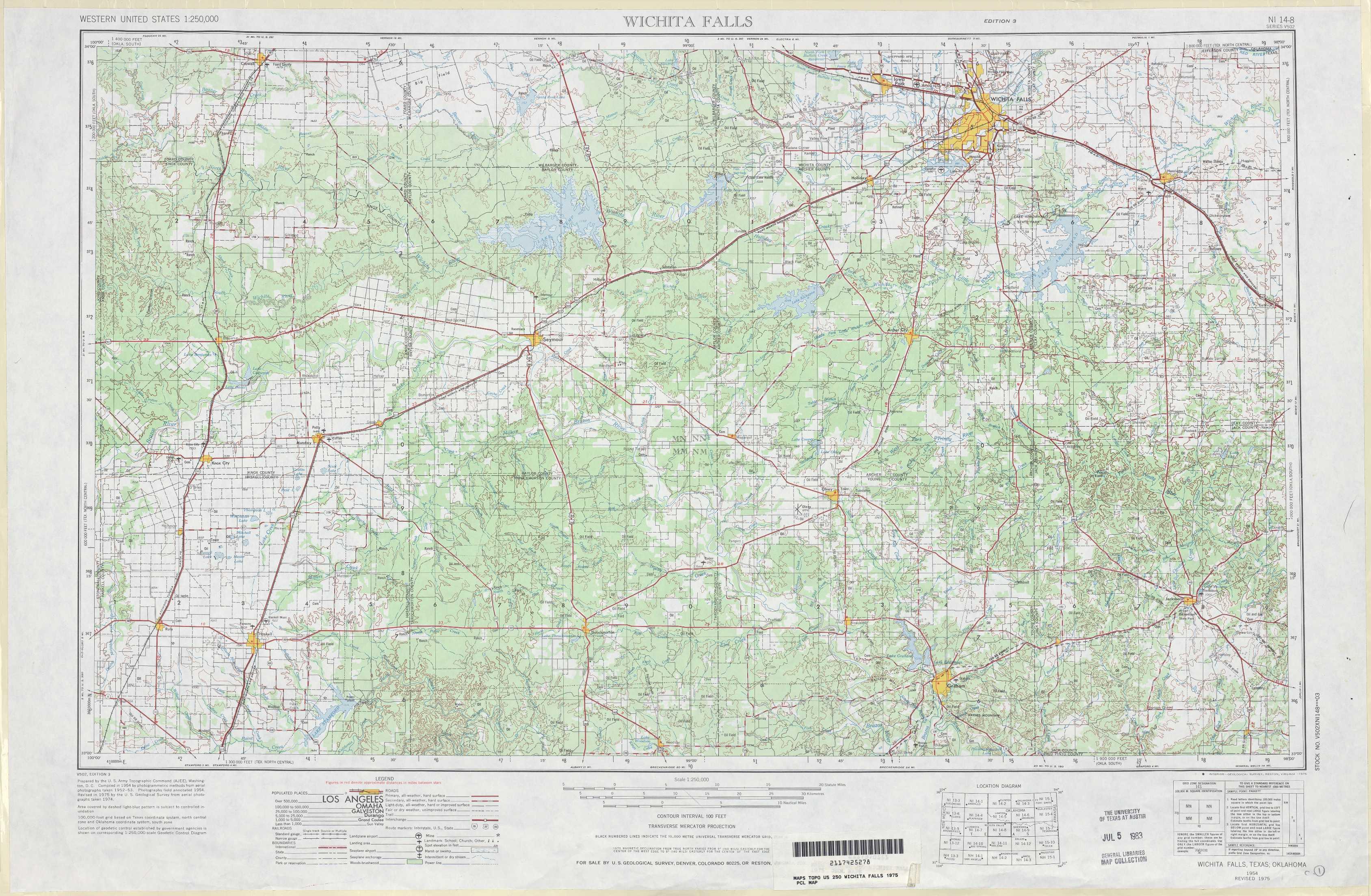 Wichita Falls topographic maps TX OK USGS Topo Quad 33098a1 at 1