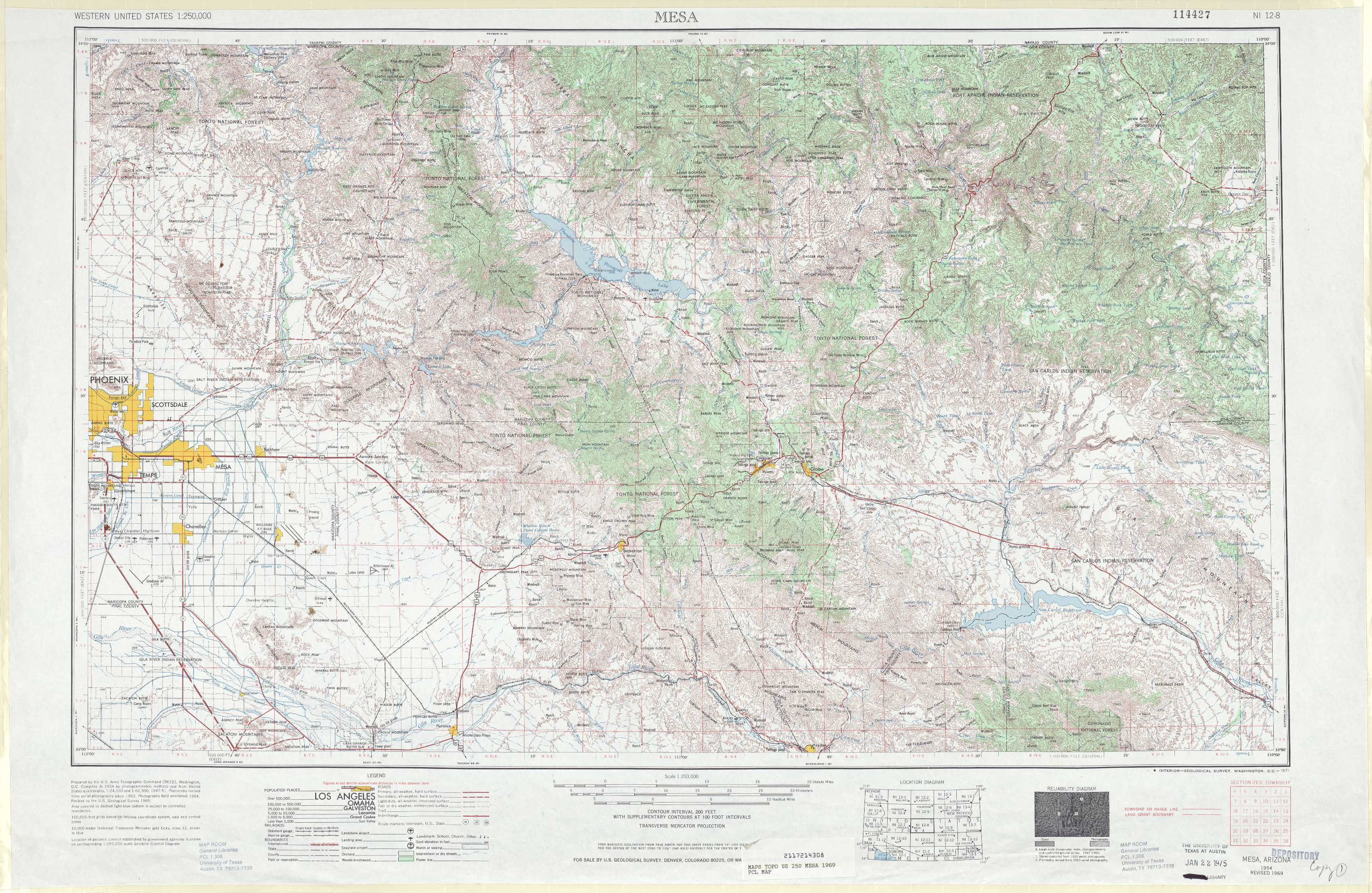 Mesa topographic maps az usgs topo quad 33110a1 at 1250000 scale mesa freerunsca Choice Image