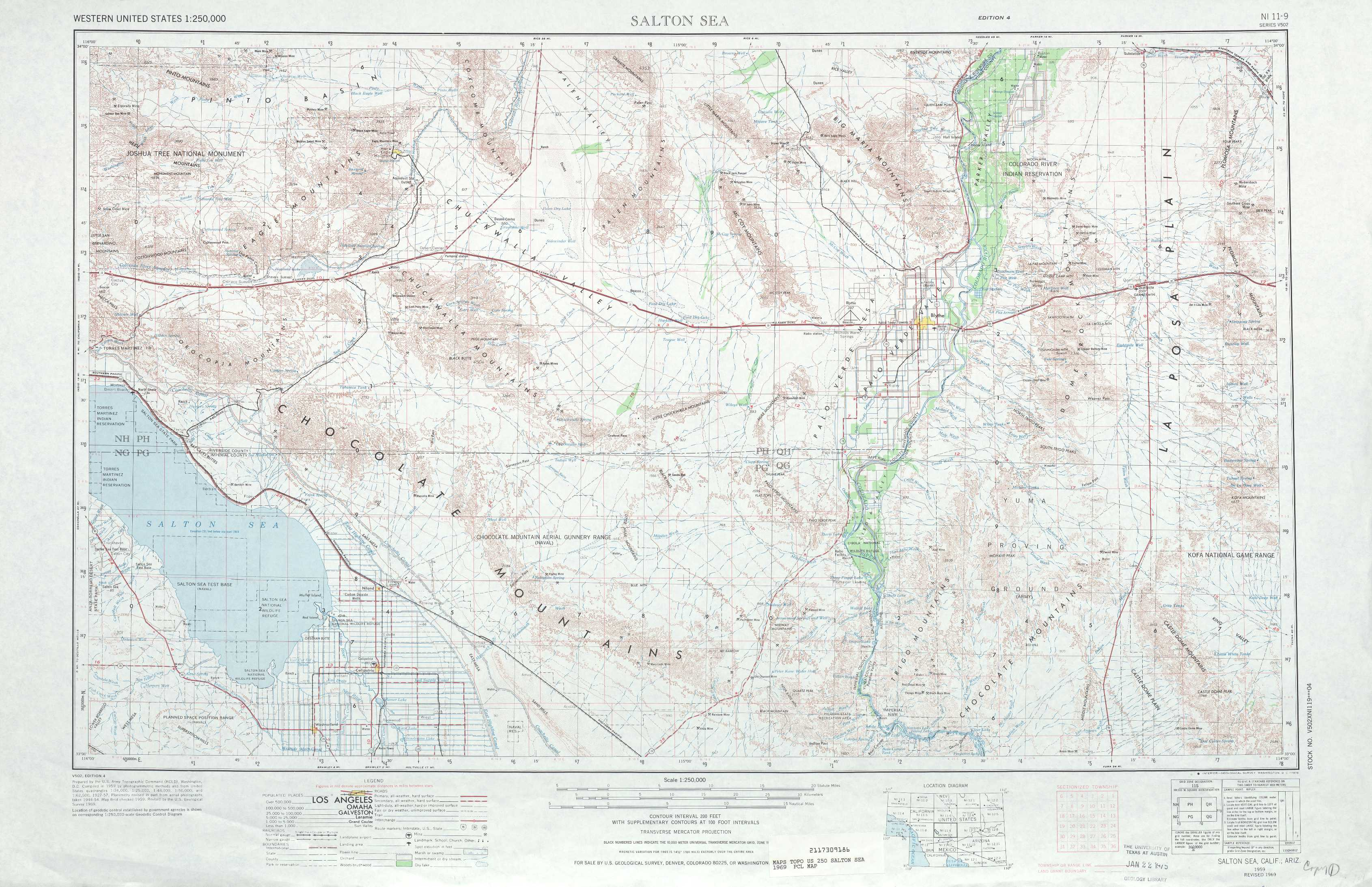 Salton Sea topographic maps CA AZ USGS Topo Quad 33114a1 at 1