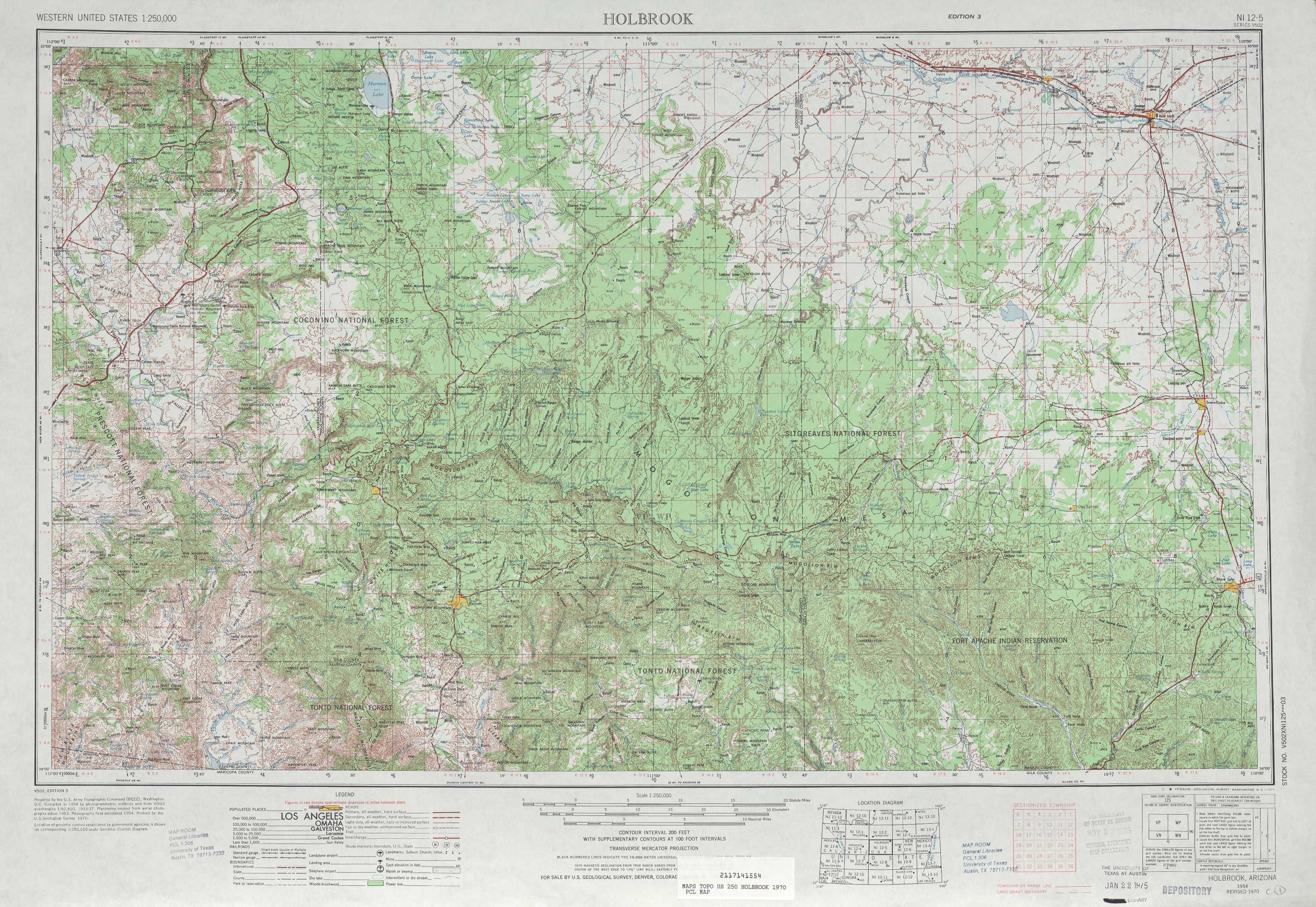 Holbrook Topographic Maps AZ USGS Topo Quad A At - Arizona topographic map