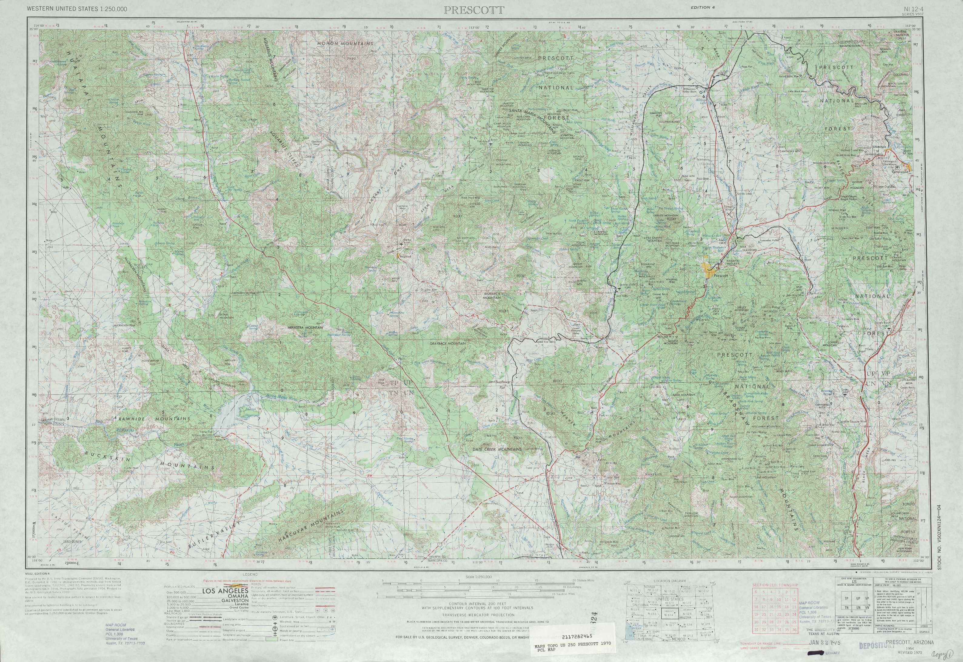 Map Of Arizona Prescott.Prescott Az Elevation Map Map North East