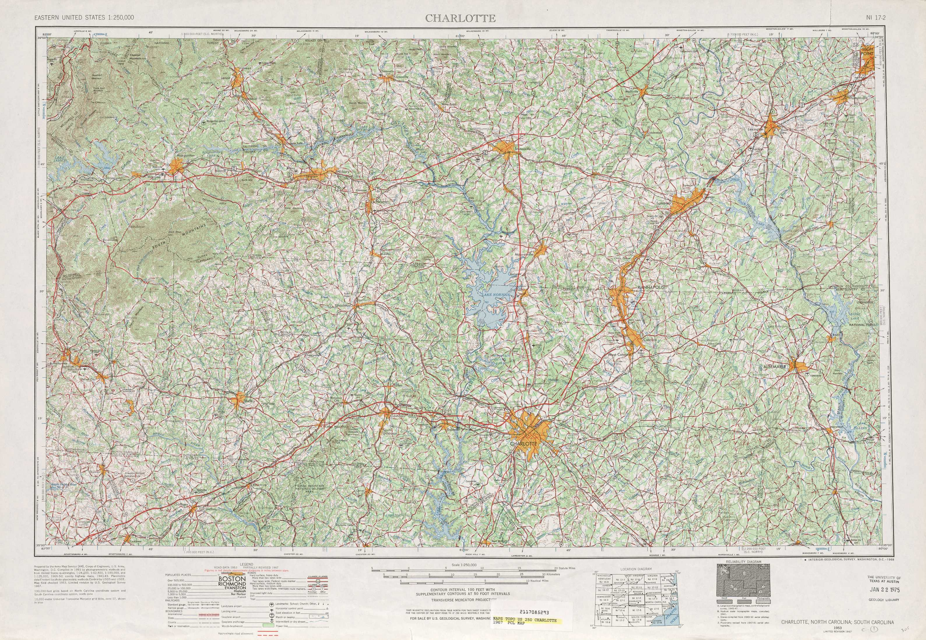 Charlotte Topographic Maps NC SC USGS Topo Quad A At - Us map charlotte nc