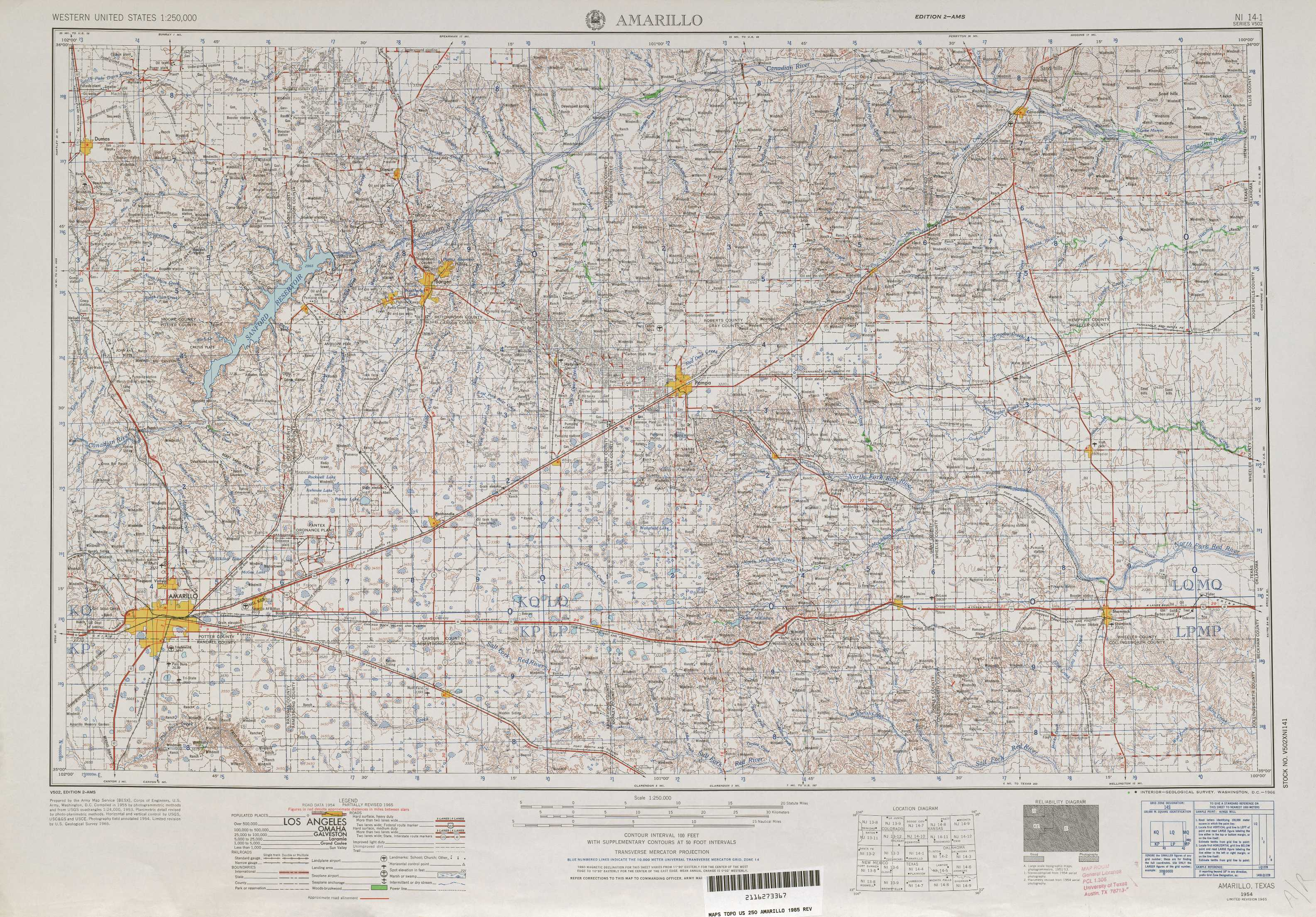Amarillo Topographic Maps TX USGS Topo Quad A At - Map of amarillo texas