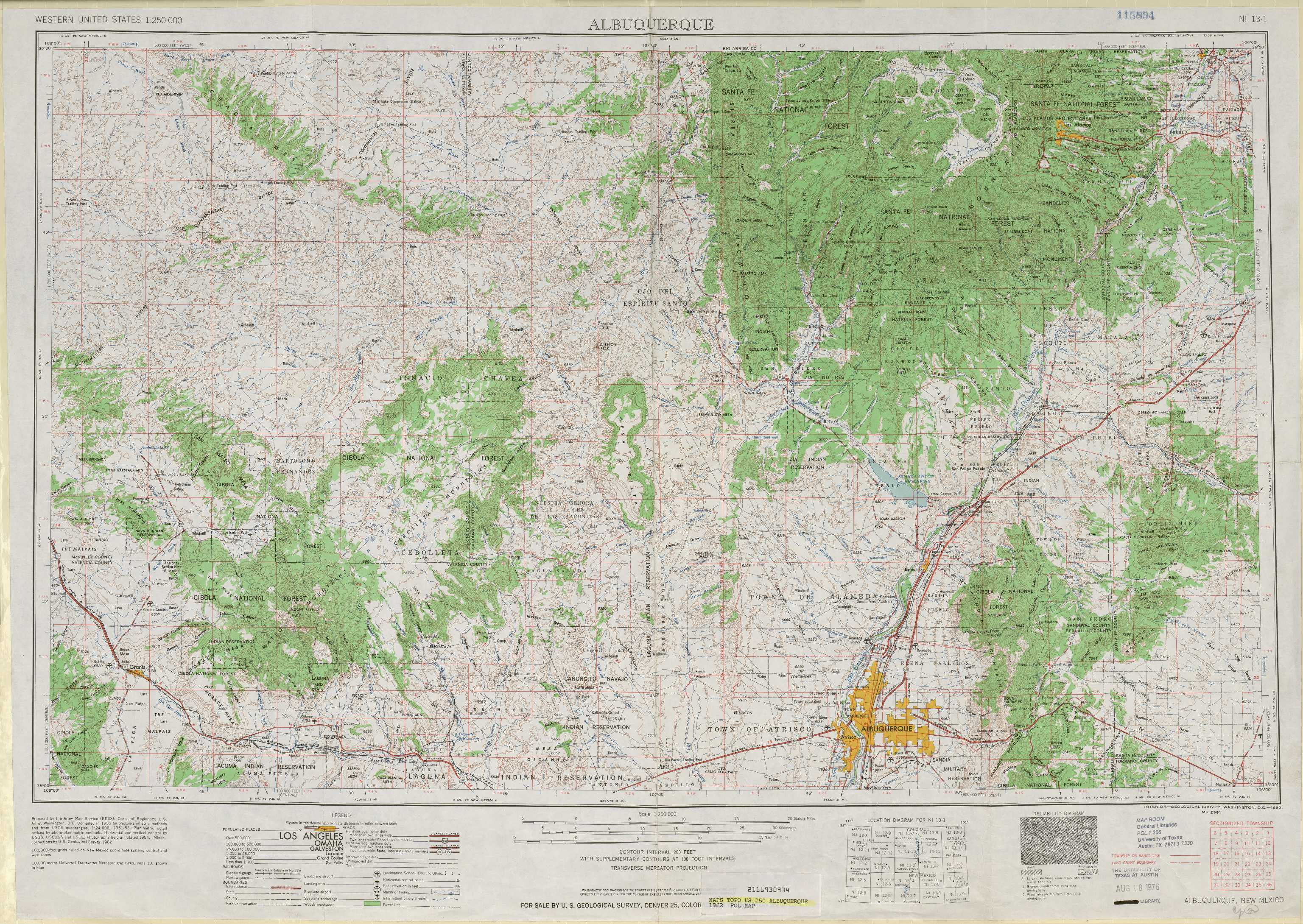 Albuquerque topographic maps, NM - USGS Topo Quad 35106a1 at 1 ...