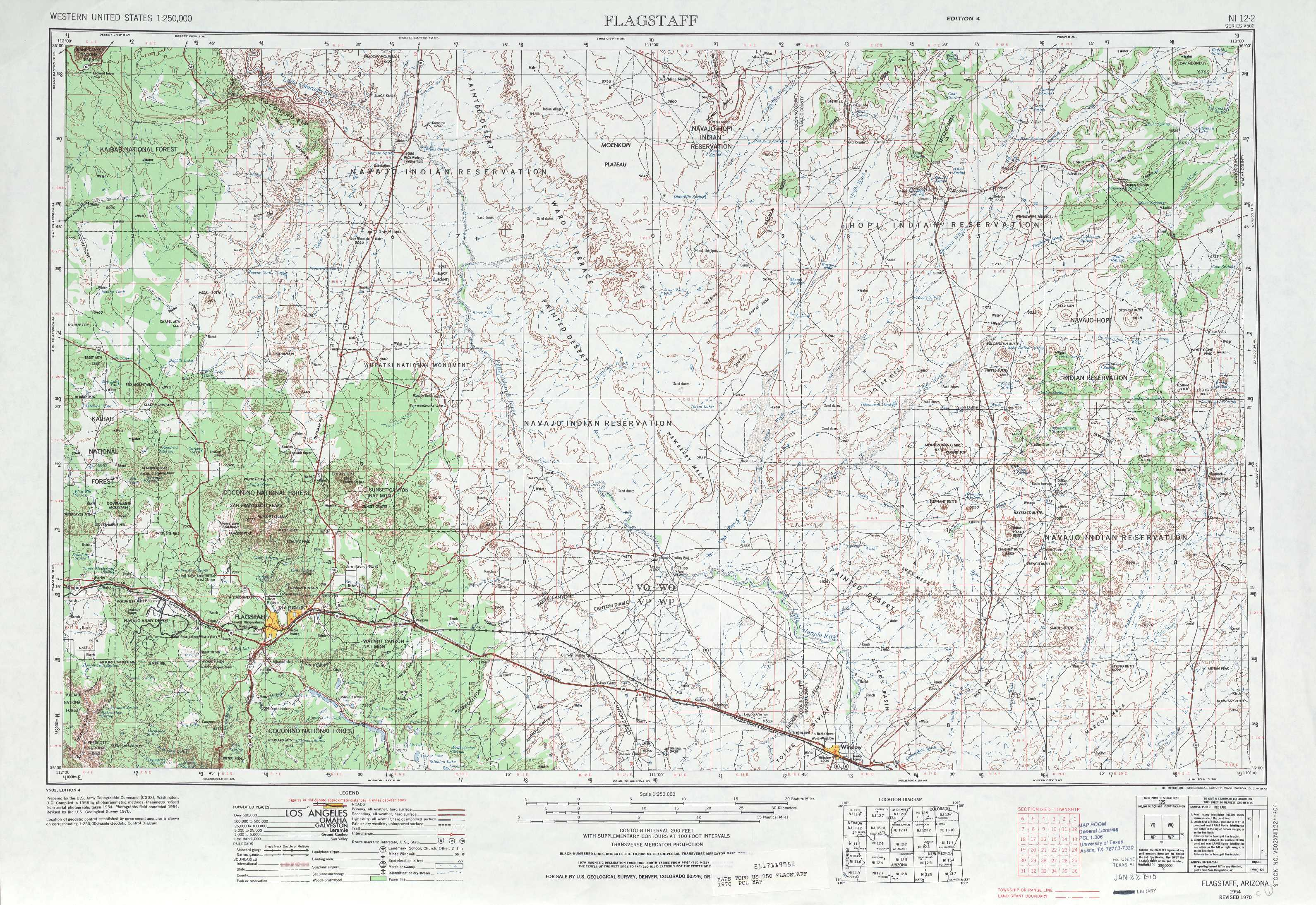 Flagstaff Topographic Maps AZ USGS Topo Quad A At - Arizona topographic map