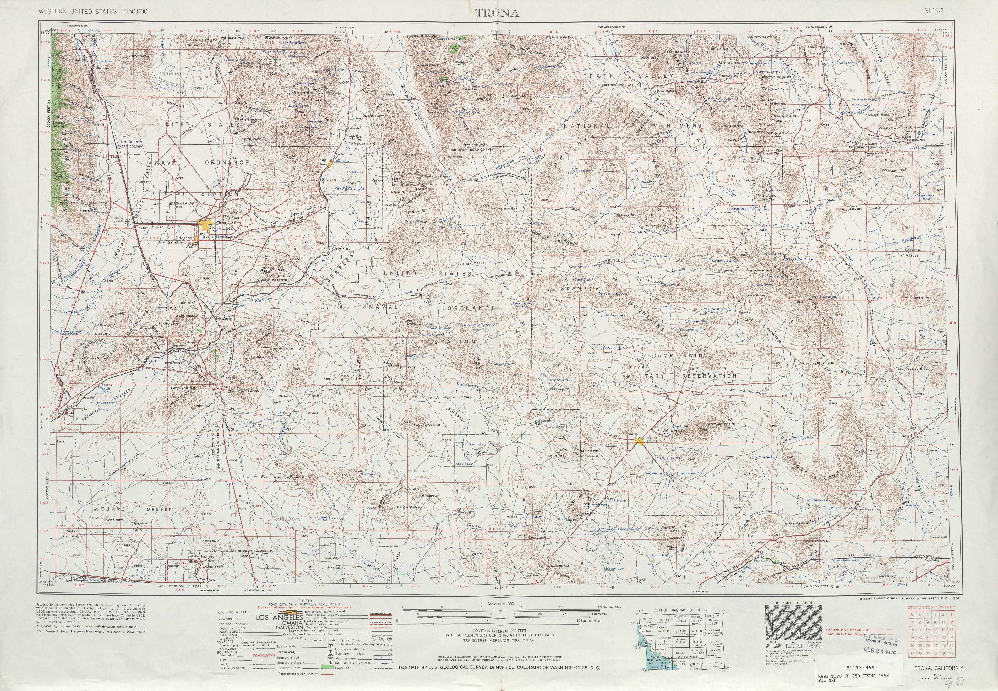 Trona Topographic Maps CA USGS Topo Quad A At Scale - Los angeles topographic map