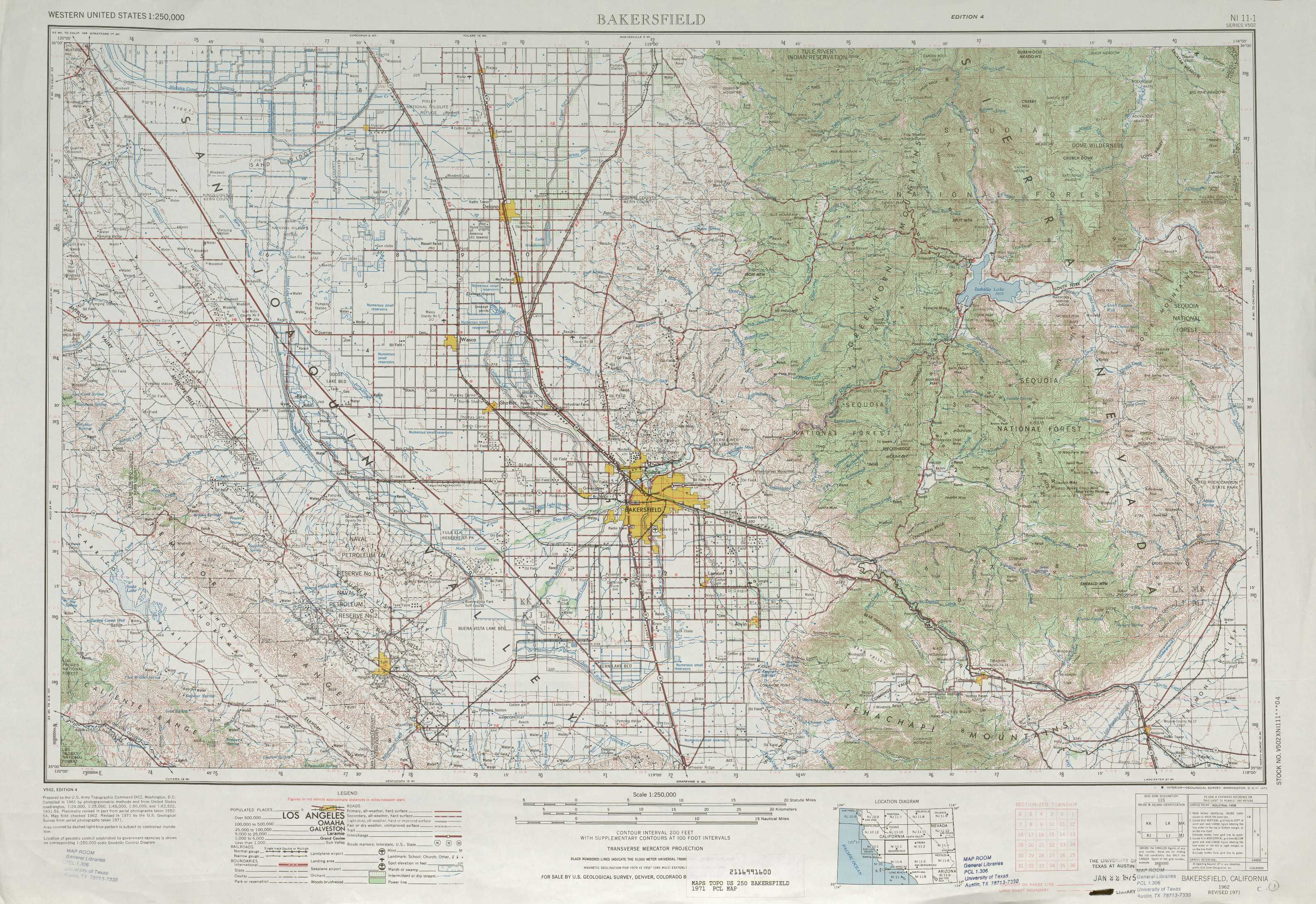 Bakersfield Topographic Maps CA USGS Topo Quad A At - Los angeles topographic map
