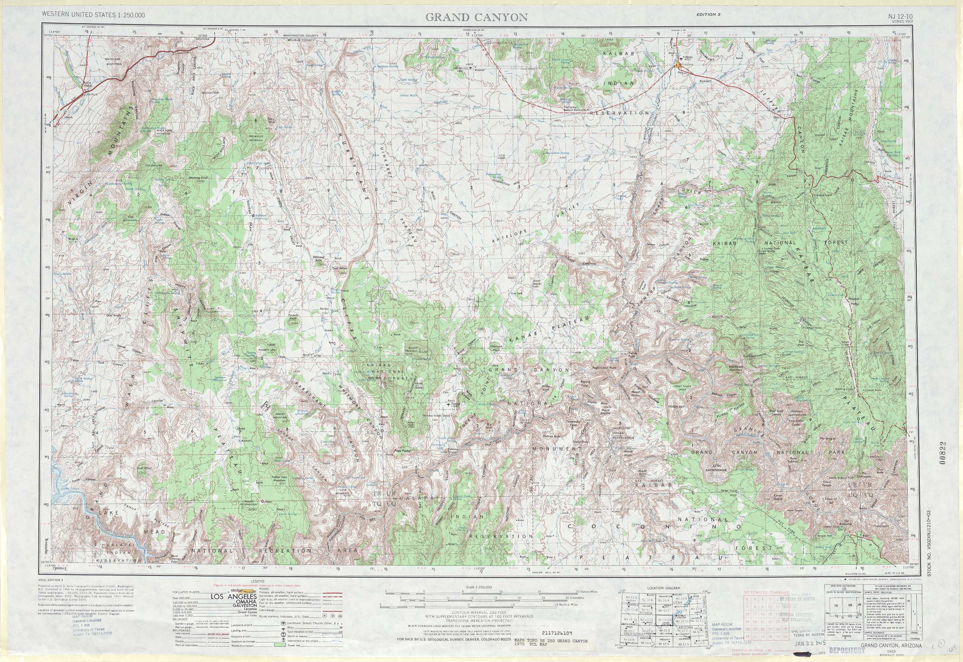 Topographic Map Grand Canyon.Grand Canyon Topographic Maps Az Usgs Topo Quad 36112a1 At 1