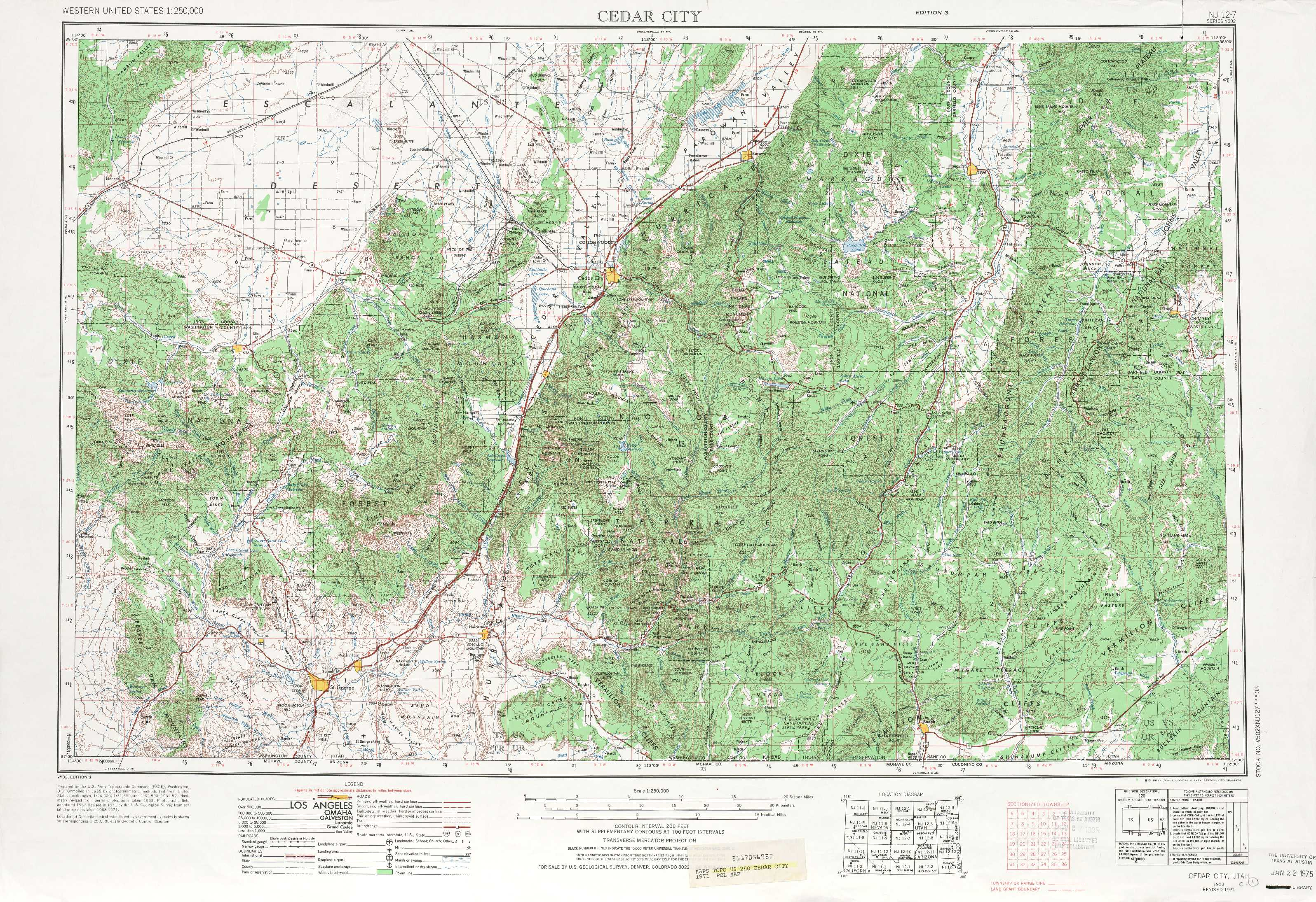 Cedar City topographic maps, UT - USGS Topo Quad 37112a1 at 1 ...