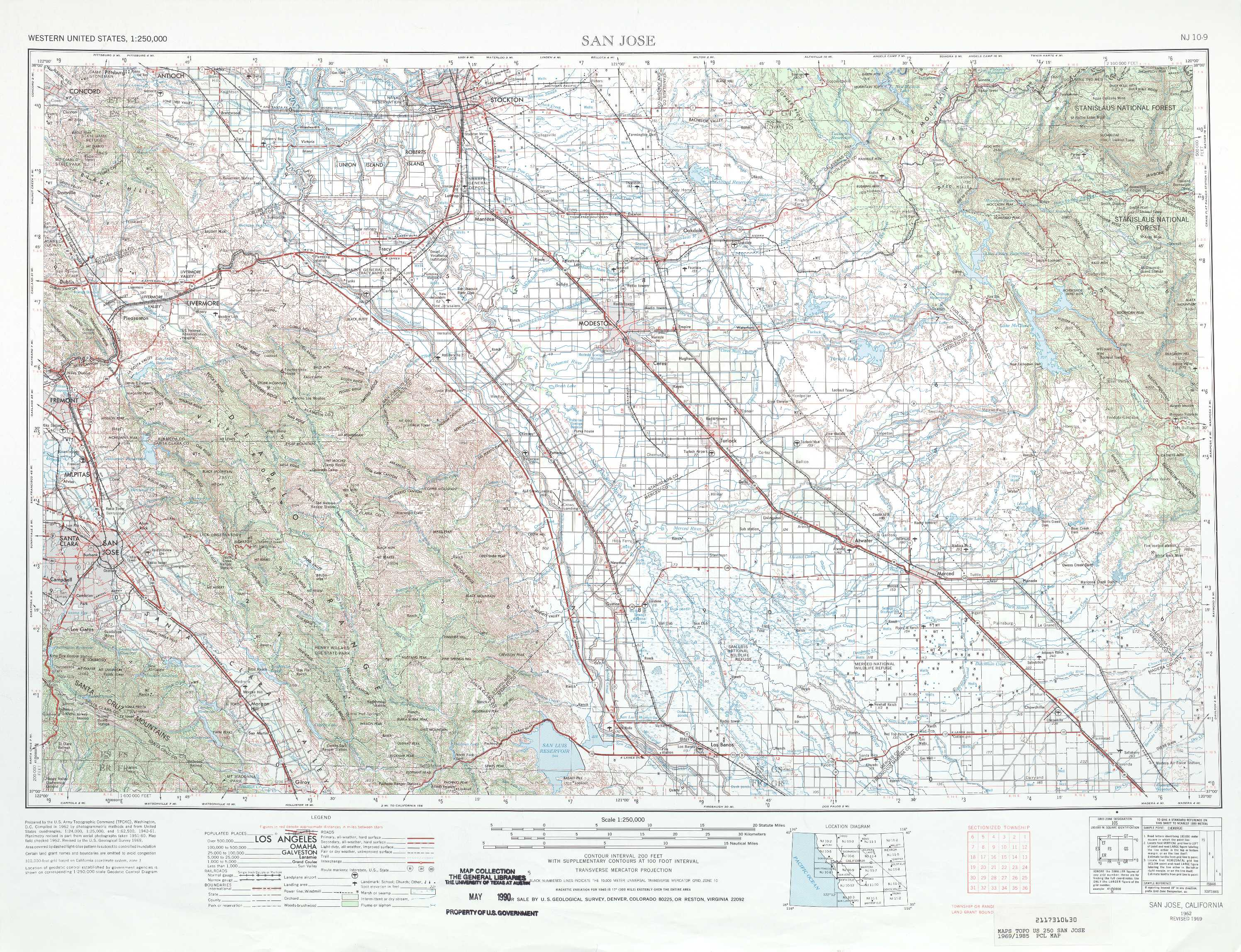 San Jose topographic maps CA  USGS Topo Quad 37120a1 at 1