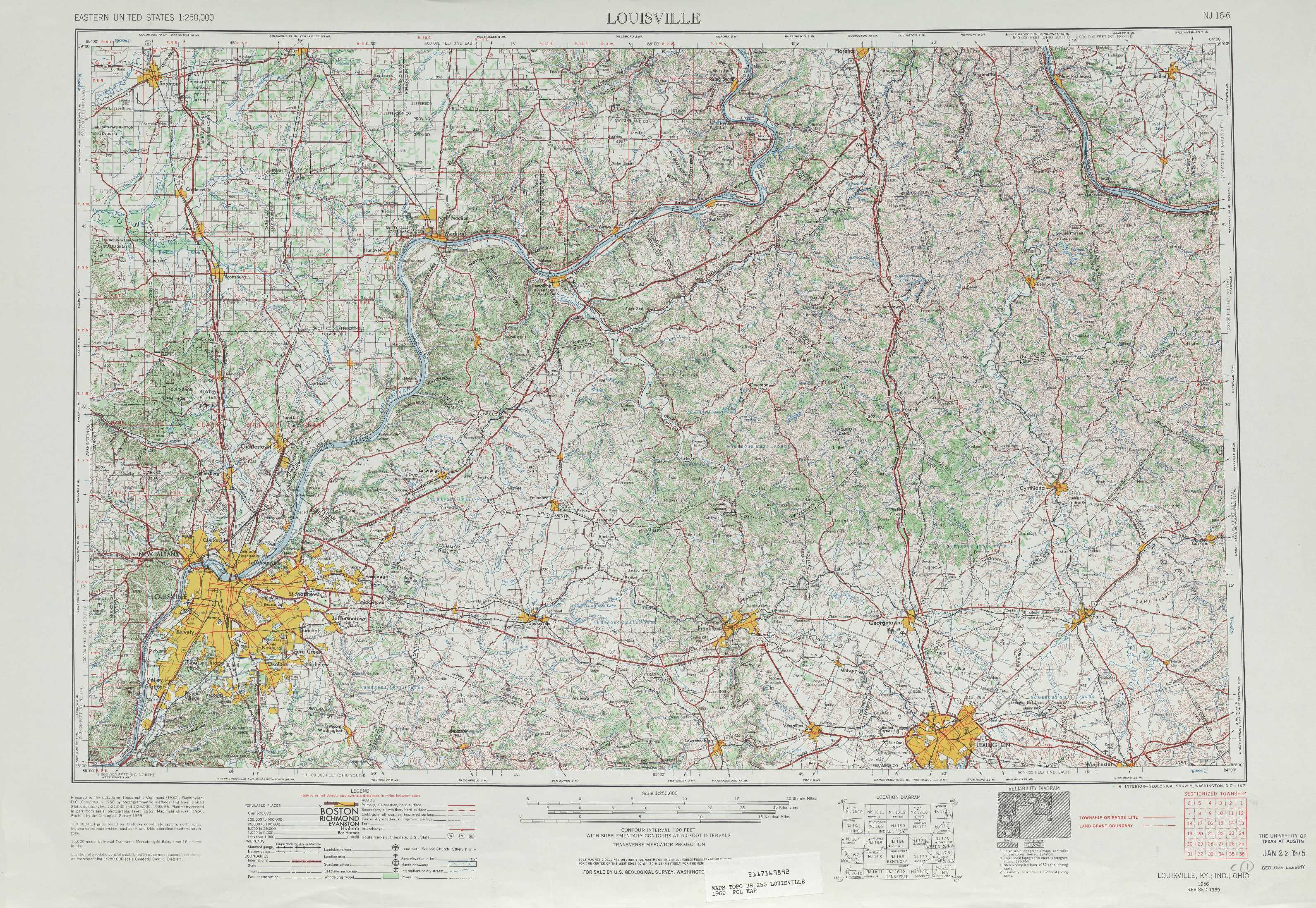 Louisville Topographic Maps Ky In Oh Usgs Topo Quad 38084a1 At
