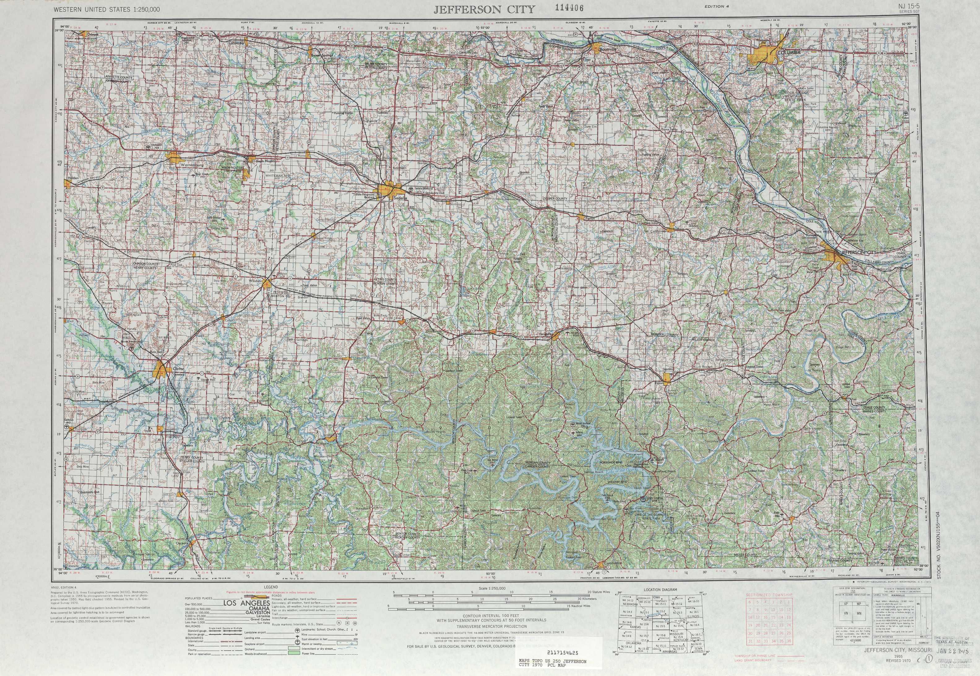 Jefferson City topographic maps MO USGS Topo Quad 38092a1 at 1