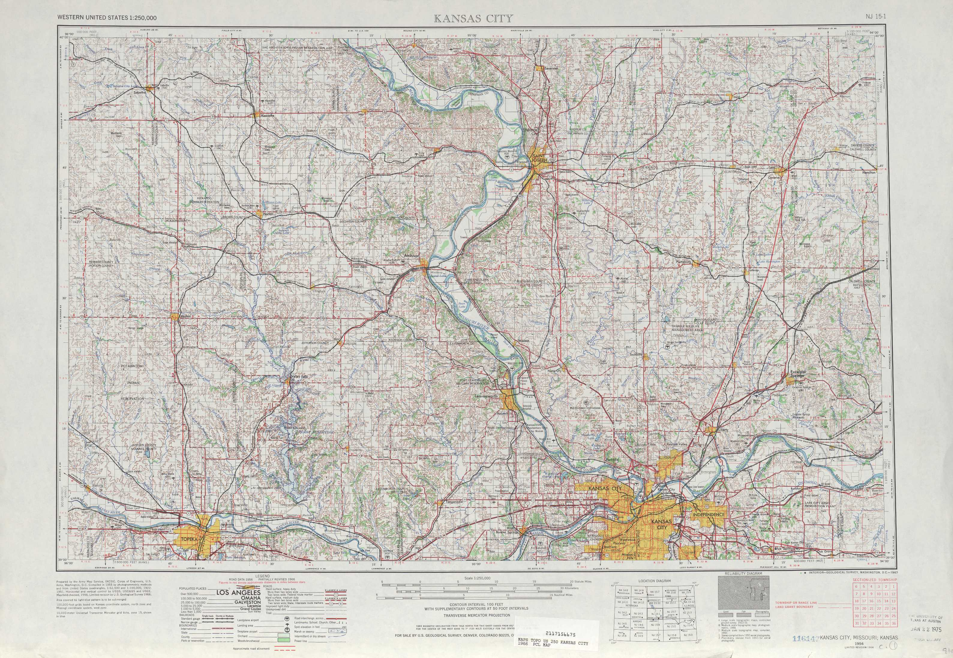 Kansas City topographic maps KS MO USGS Topo Quad 39094a1 at 1