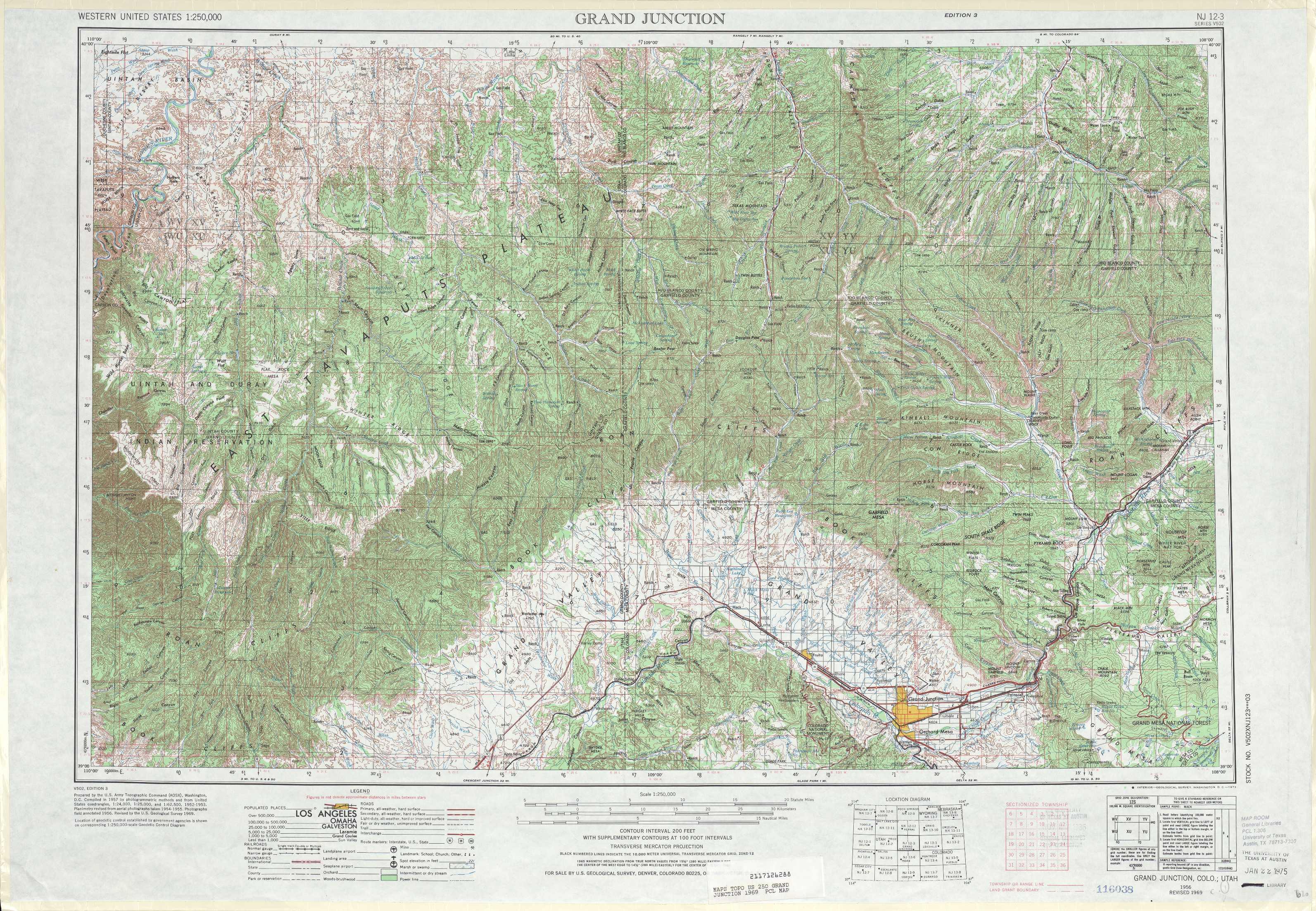 Grand Junction Topographic Maps CO UT  USGS Topo Quad