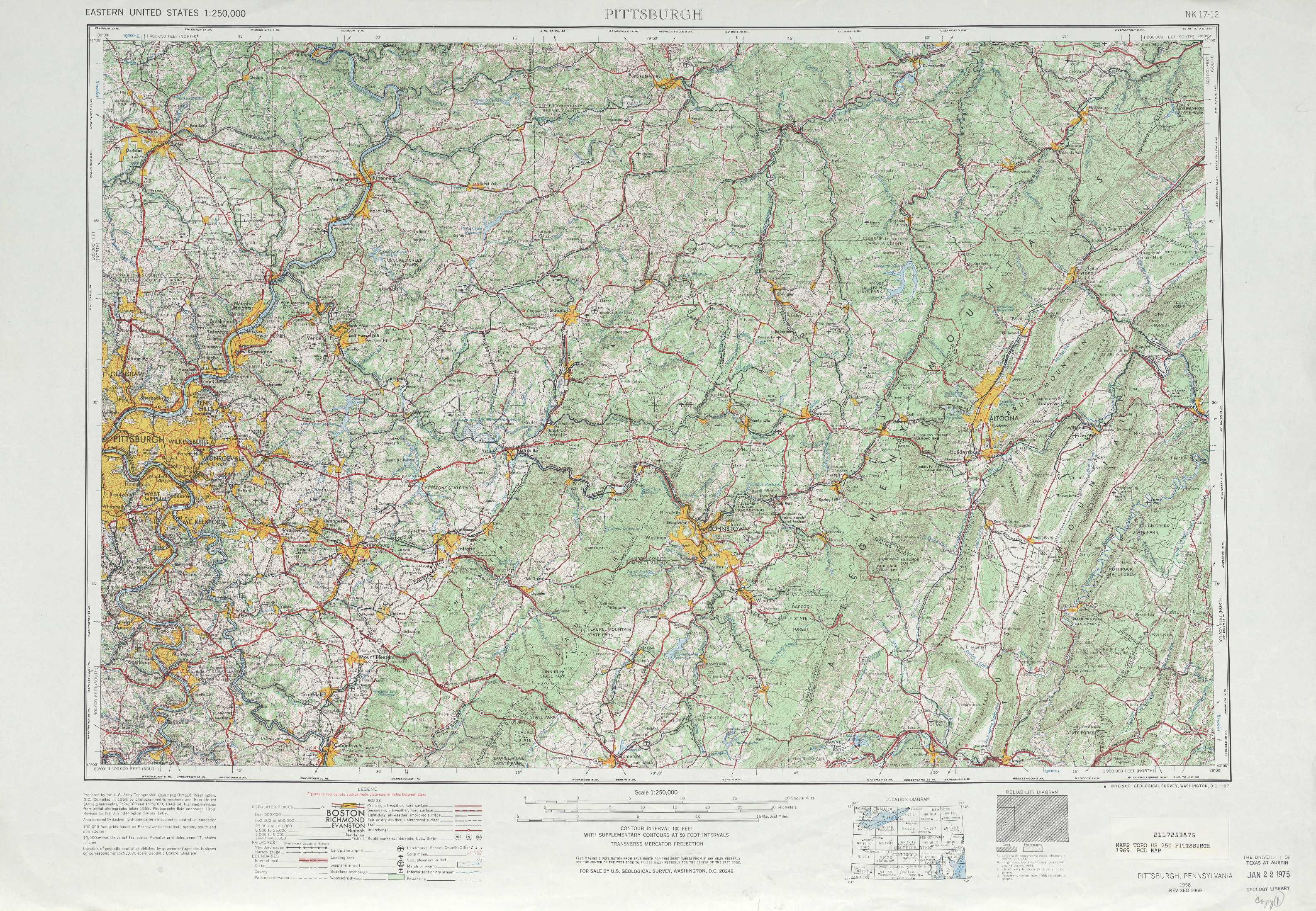 Pennsylvania Elevation Map Pennsylvania Outline Maps And Map - Washington dc interstate map