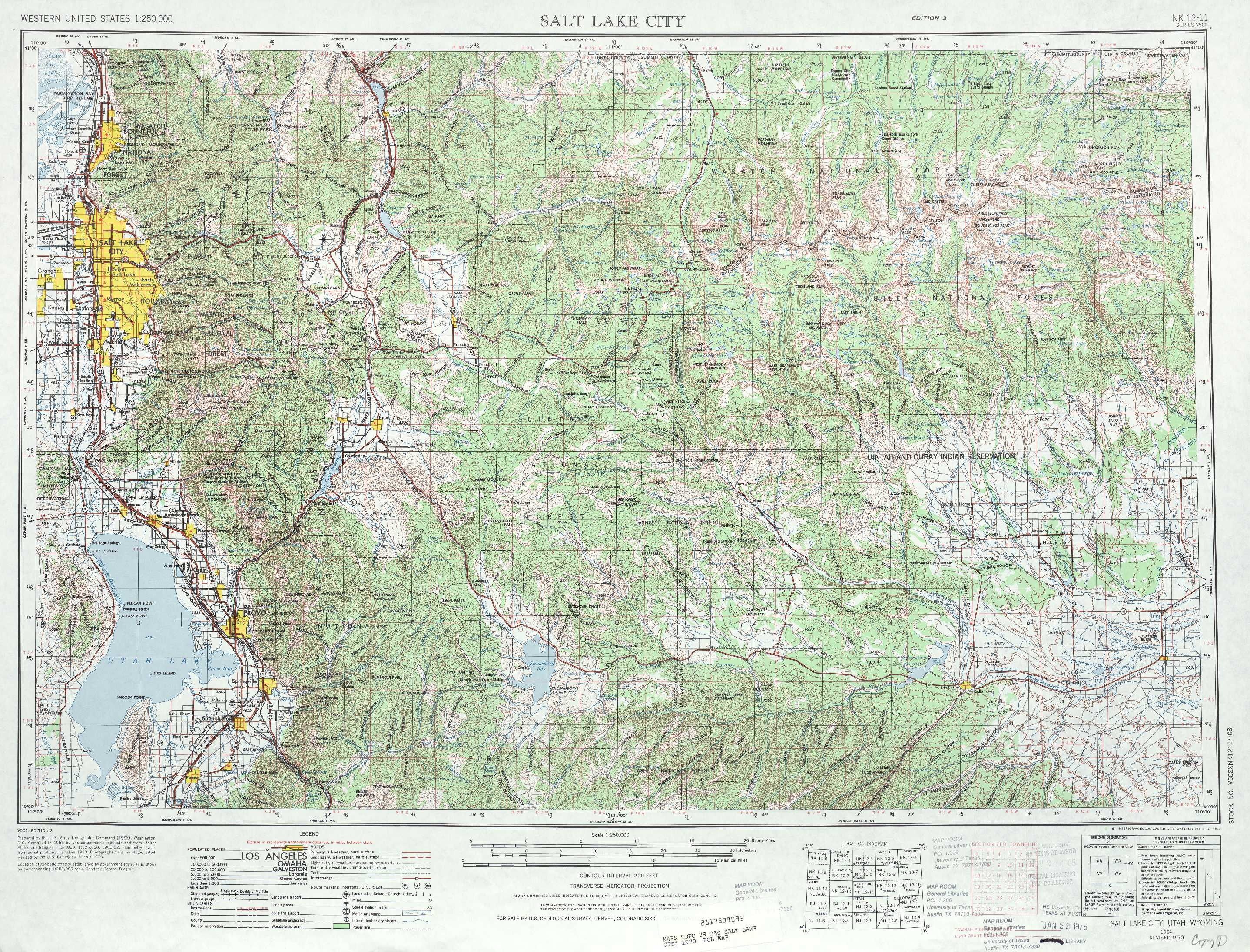 Salt Lake City Topographic Maps UT USGS Topo Quad A At - Us map salt lake city