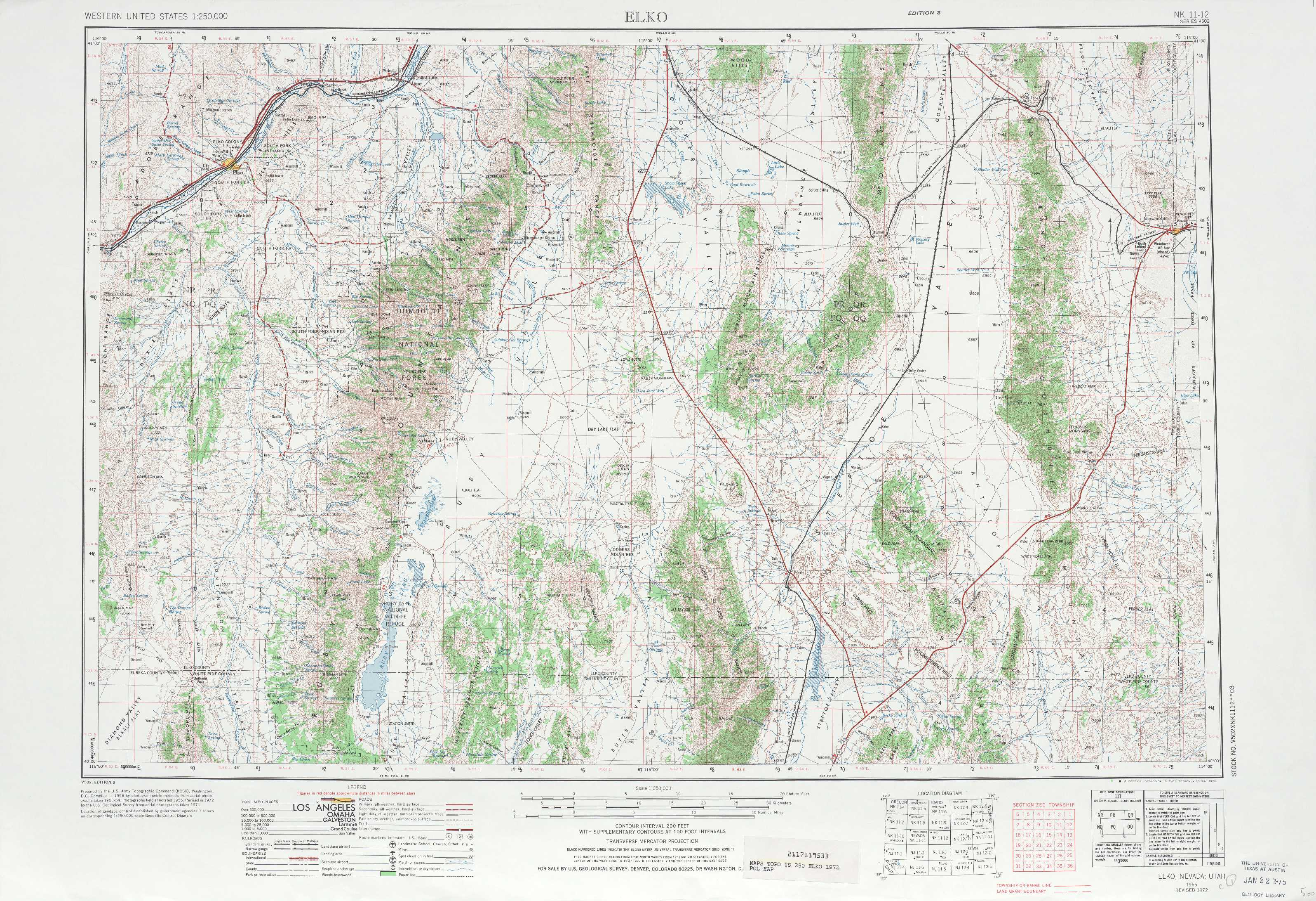 Elko Topographic Maps Nv Ut Usgs Topo Quad 40114a1 At
