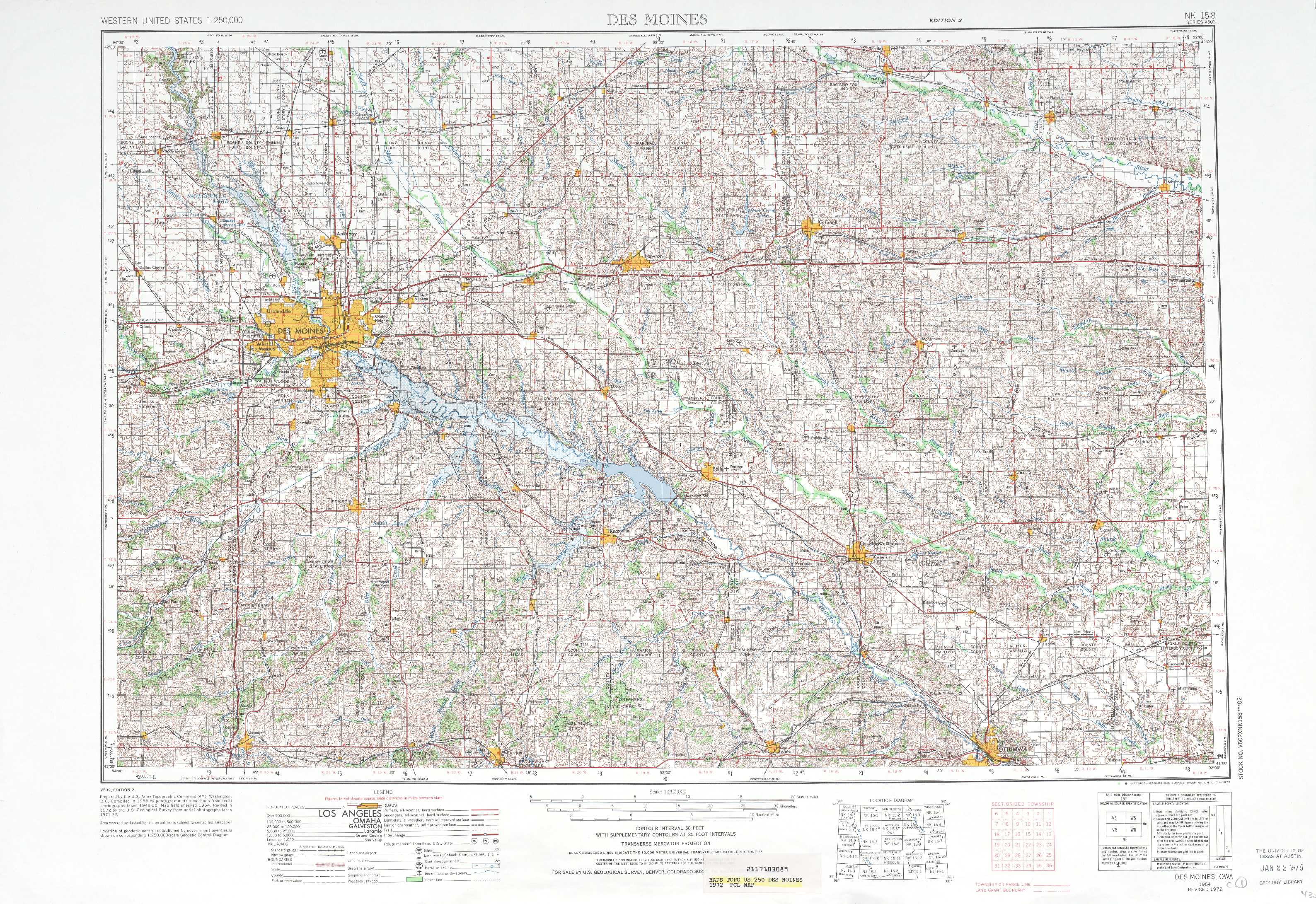Des Moines topographic maps IA USGS Topo Quad 41092a1 at 1