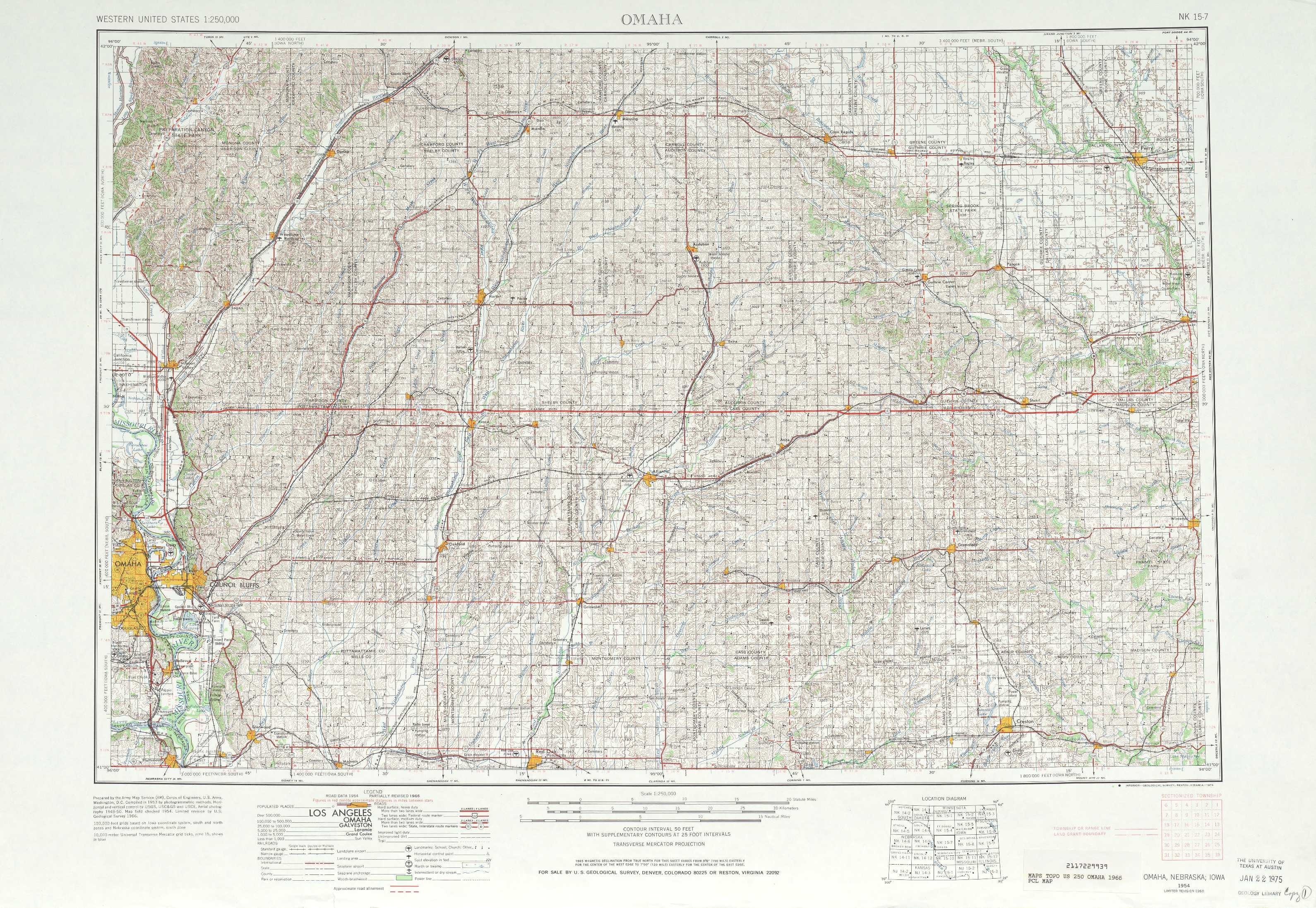 Omaha Topographic Maps Ia Ne Usgs Topo Quad 41094a1 At 1 250 000