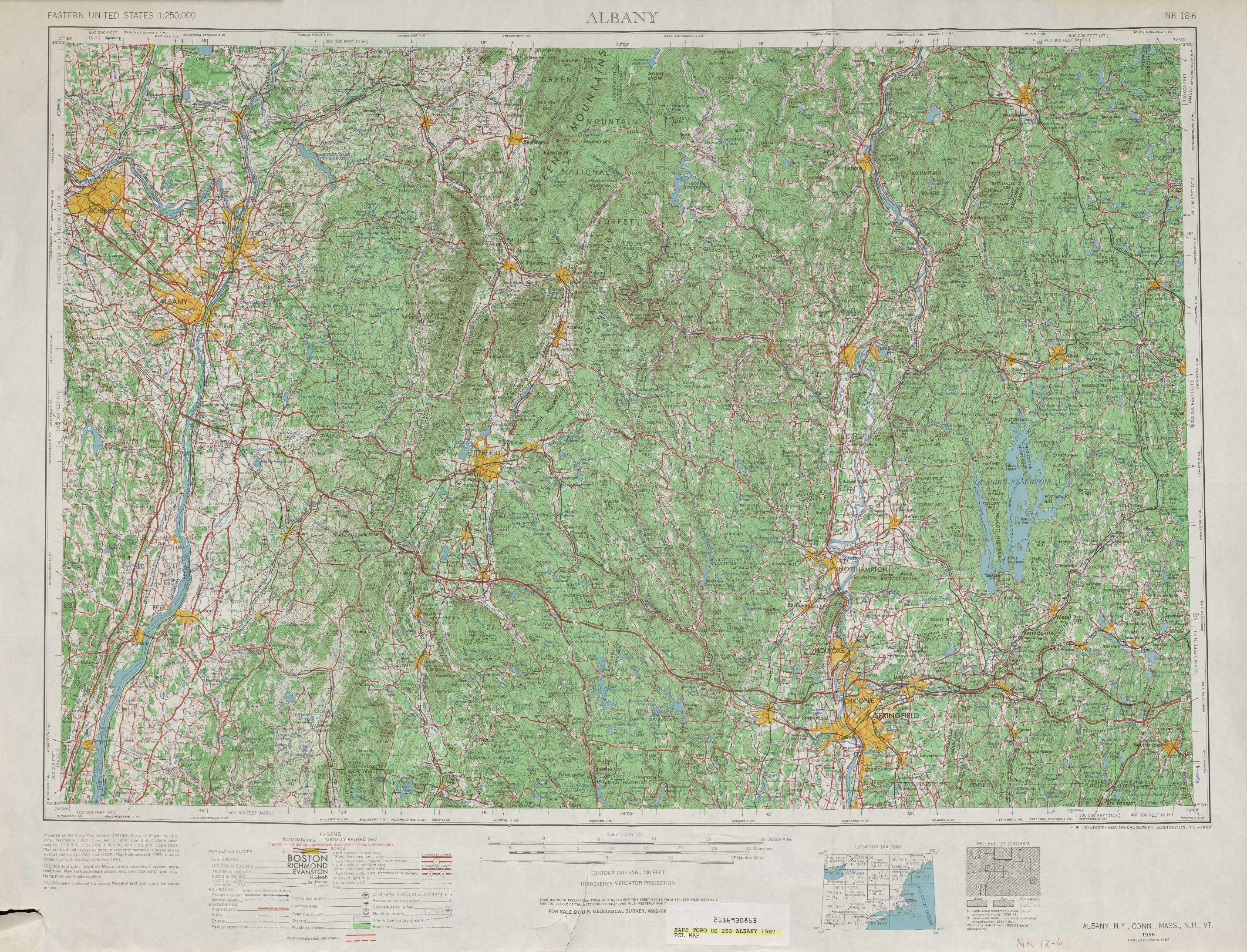 Albany topographic maps MA NY NH VT CT USGS Topo Quad 42072a1