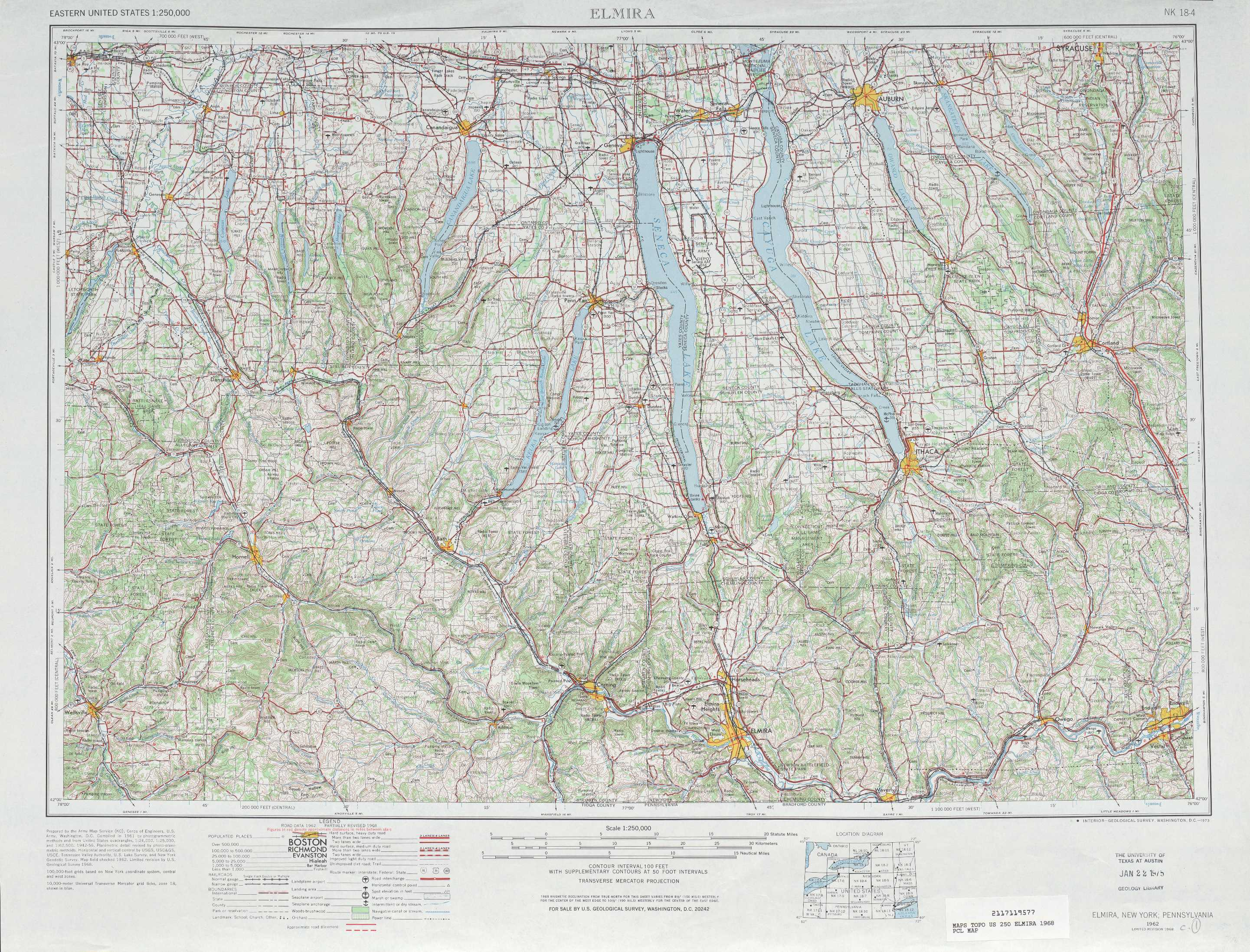 Elmira Topographic Maps NY USGS Topo Quad A At - Nyc map topographic