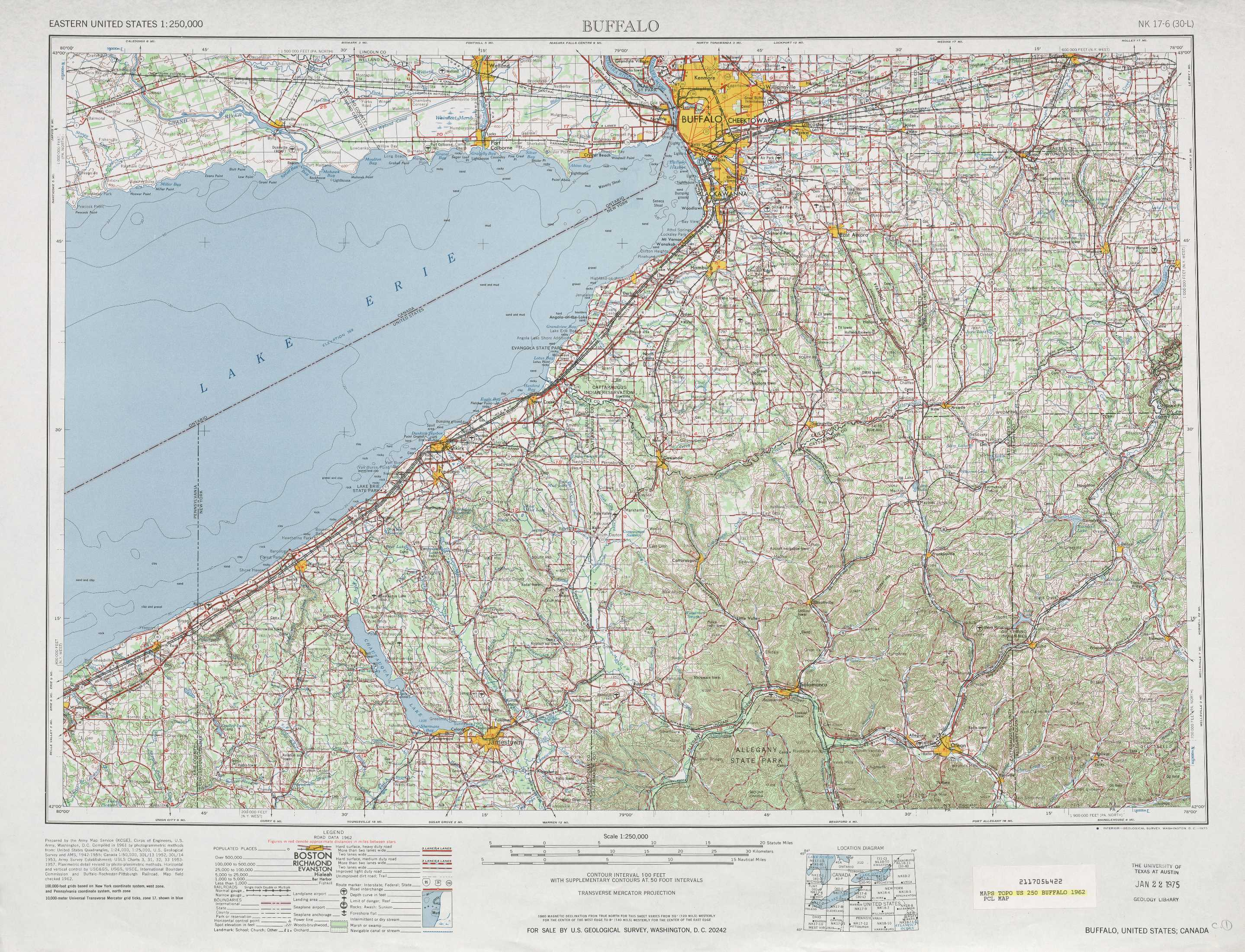Buffalo Topographic Maps NY PA USGS Topo Quad A At - Nyc map topographic