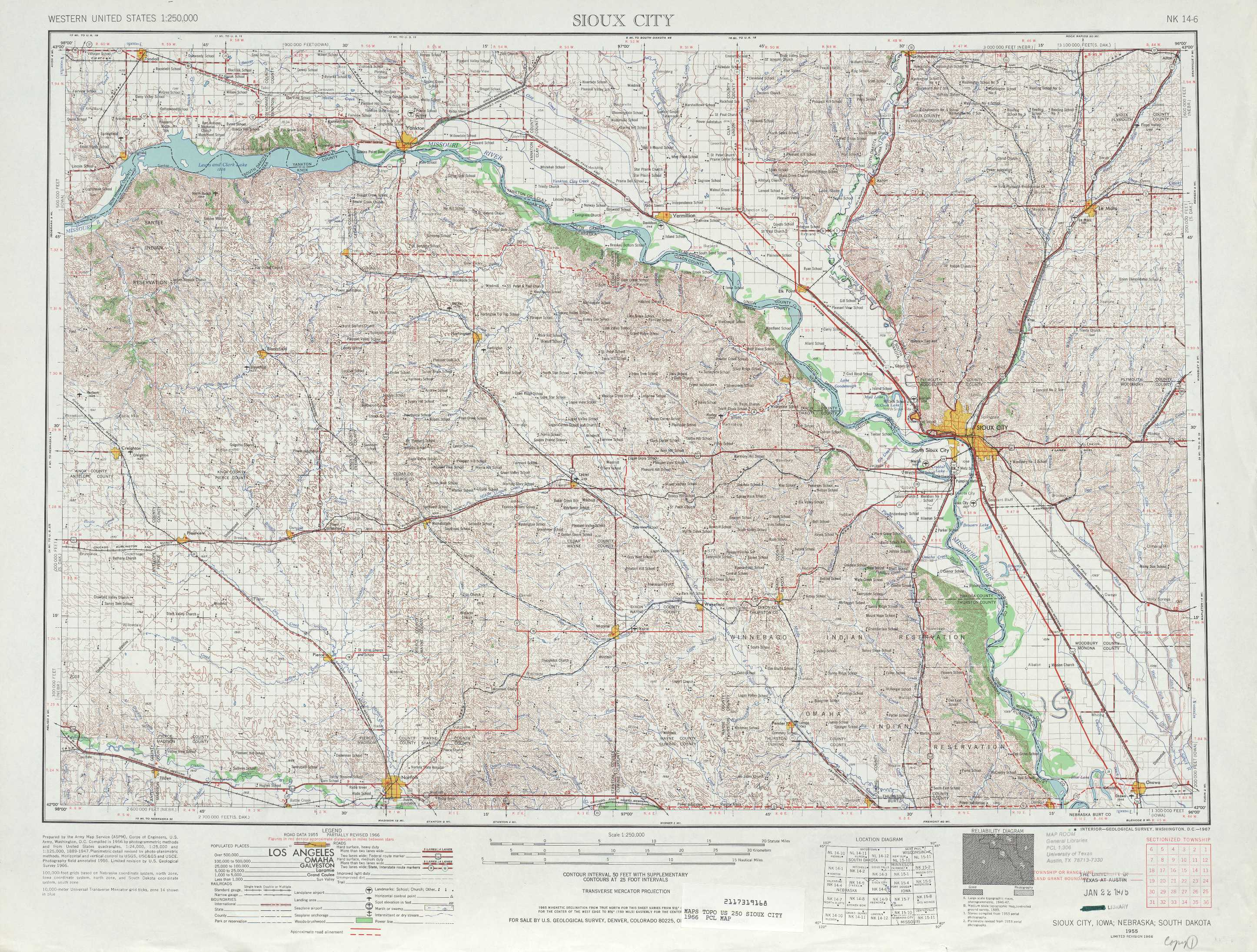 Sioux City Topographic Maps NE IA SD USGS Topo Quad A - City map of nebraska